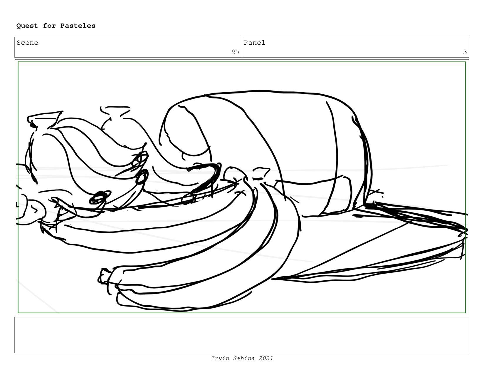 Scene 100 Panel 3 Quest for Pasteles Irvin Sahi...