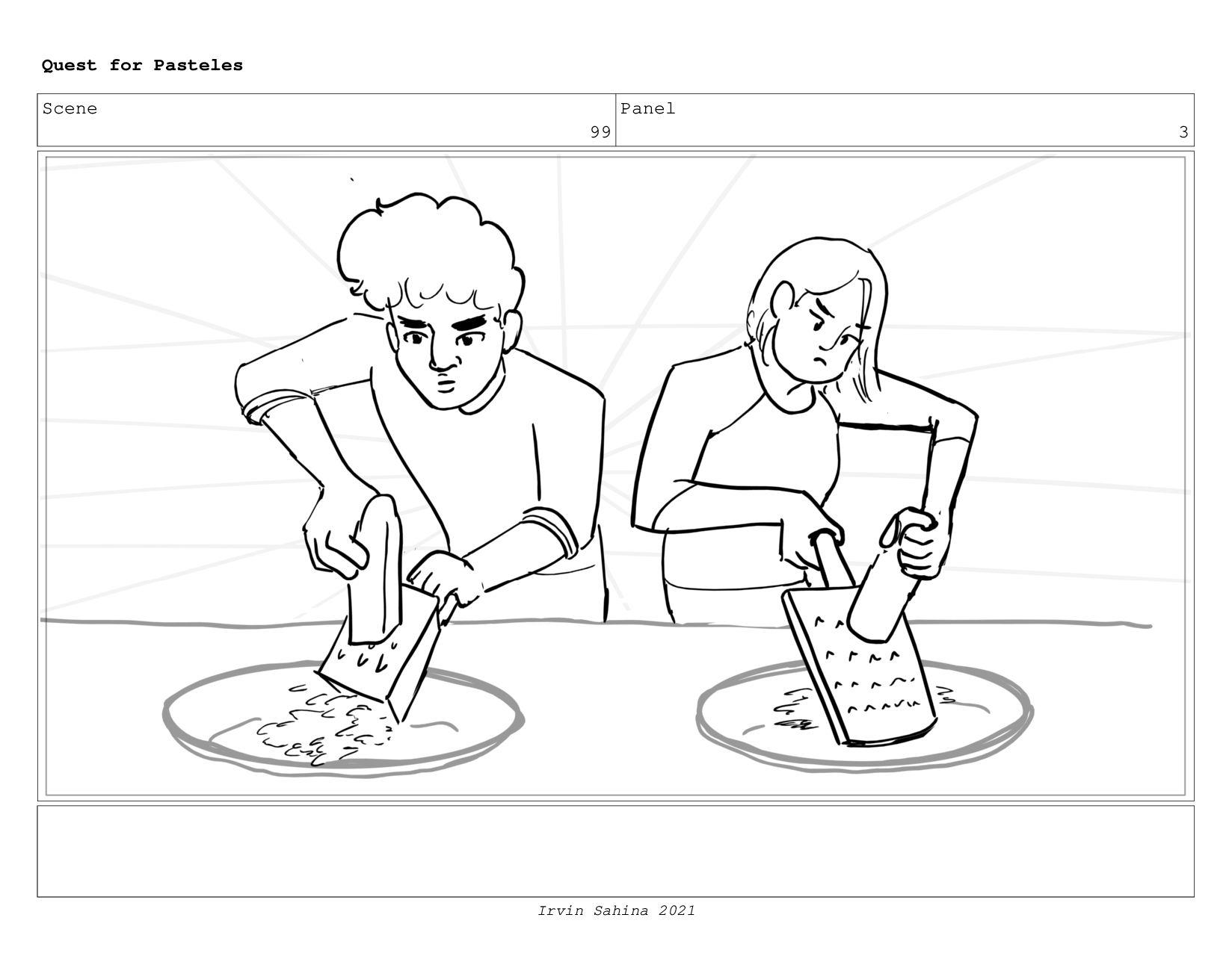 Scene 102 Panel 1 Quest for Pasteles Irvin Sahi...