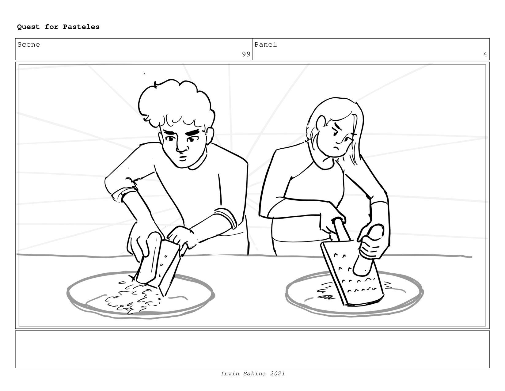 Scene 102 Panel 2 Quest for Pasteles Irvin Sahi...