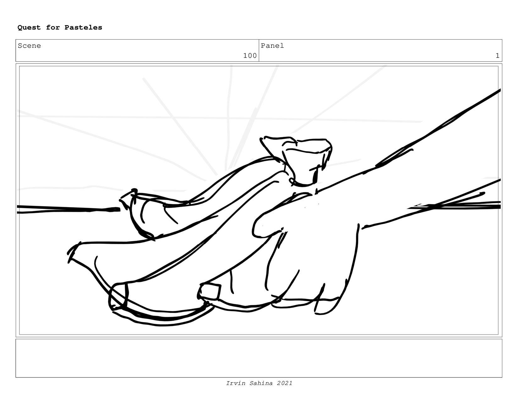 Scene 103 Panel 1 Quest for Pasteles Irvin Sahi...