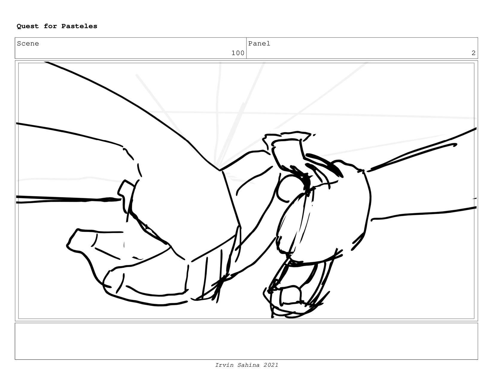 Scene 103 Panel 2 Quest for Pasteles Irvin Sahi...