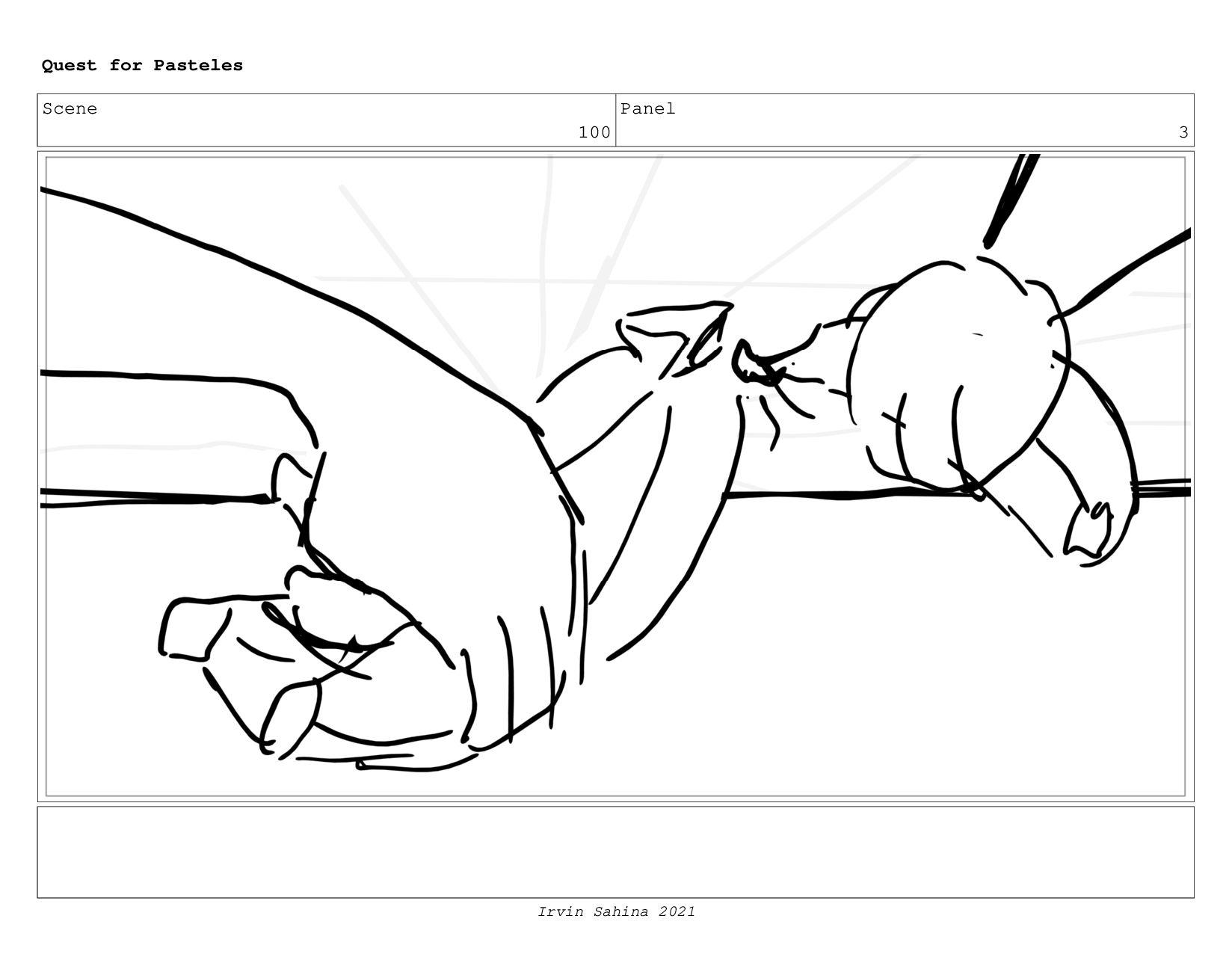 Scene 104 Panel 1 Quest for Pasteles Irvin Sahi...