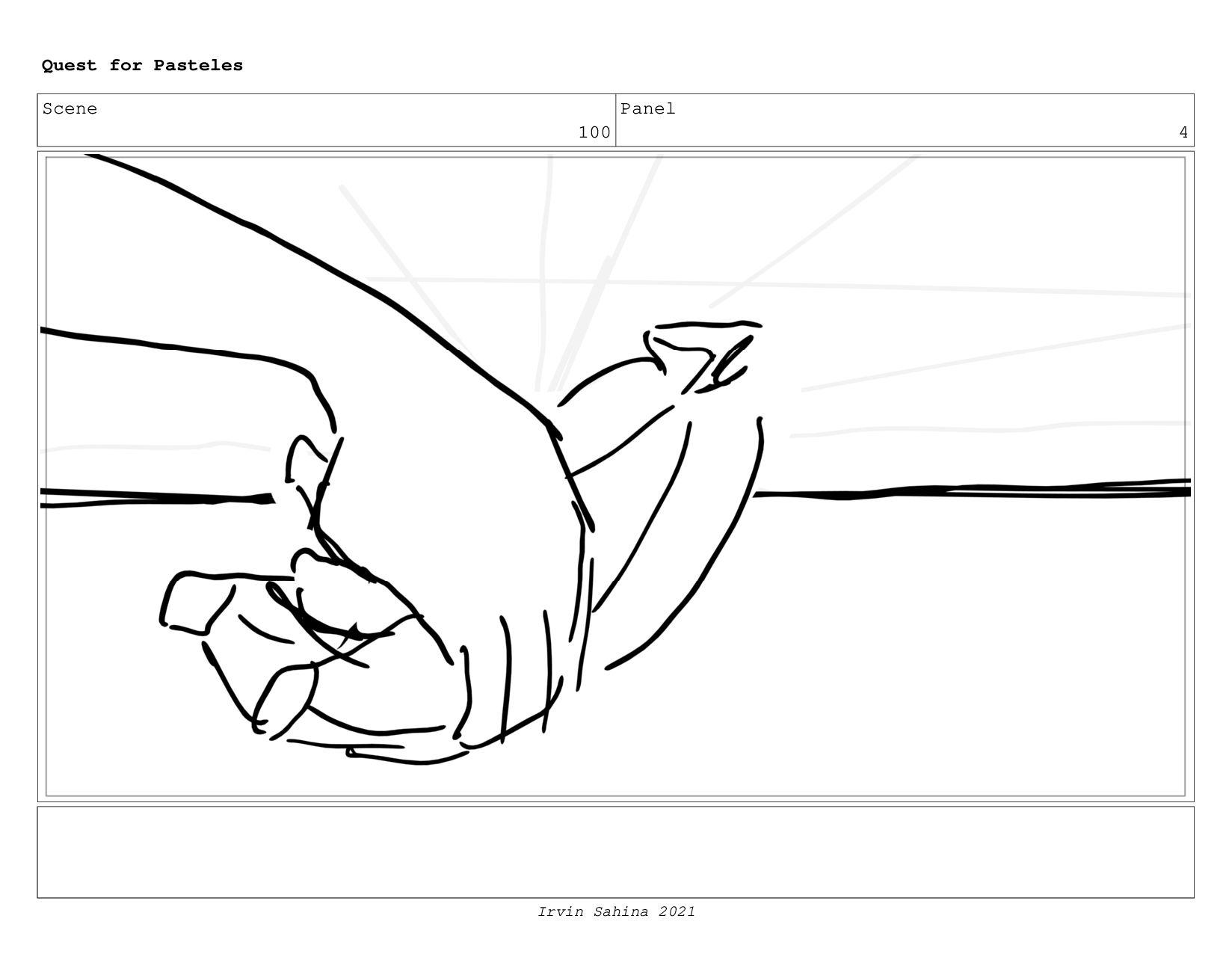 Scene 104 Panel 2 Quest for Pasteles Irvin Sahi...