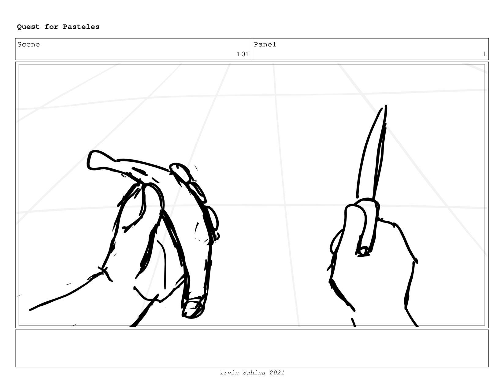 Scene 104 Panel 3 Quest for Pasteles Irvin Sahi...