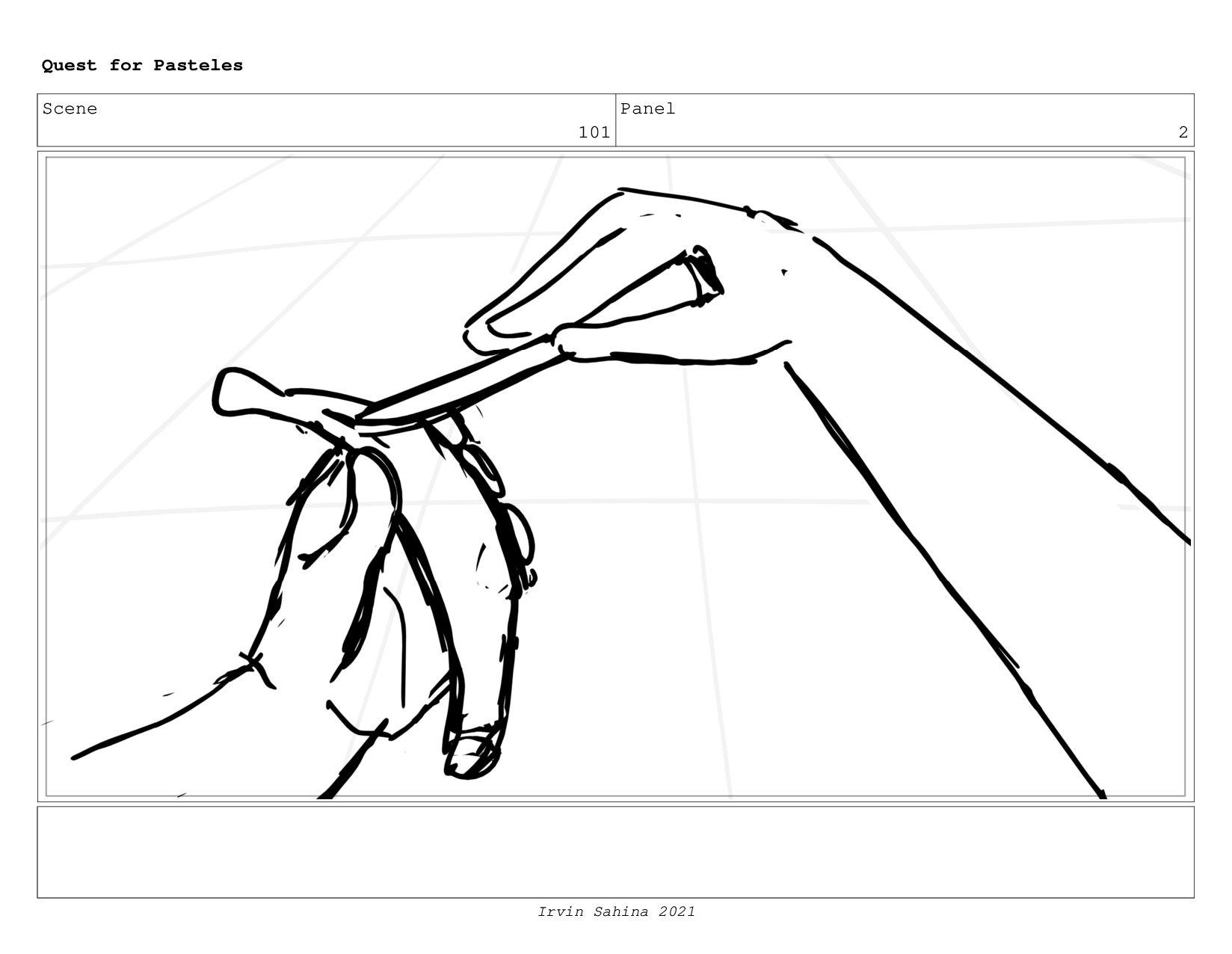 Scene 104 Panel 4 Quest for Pasteles Irvin Sahi...