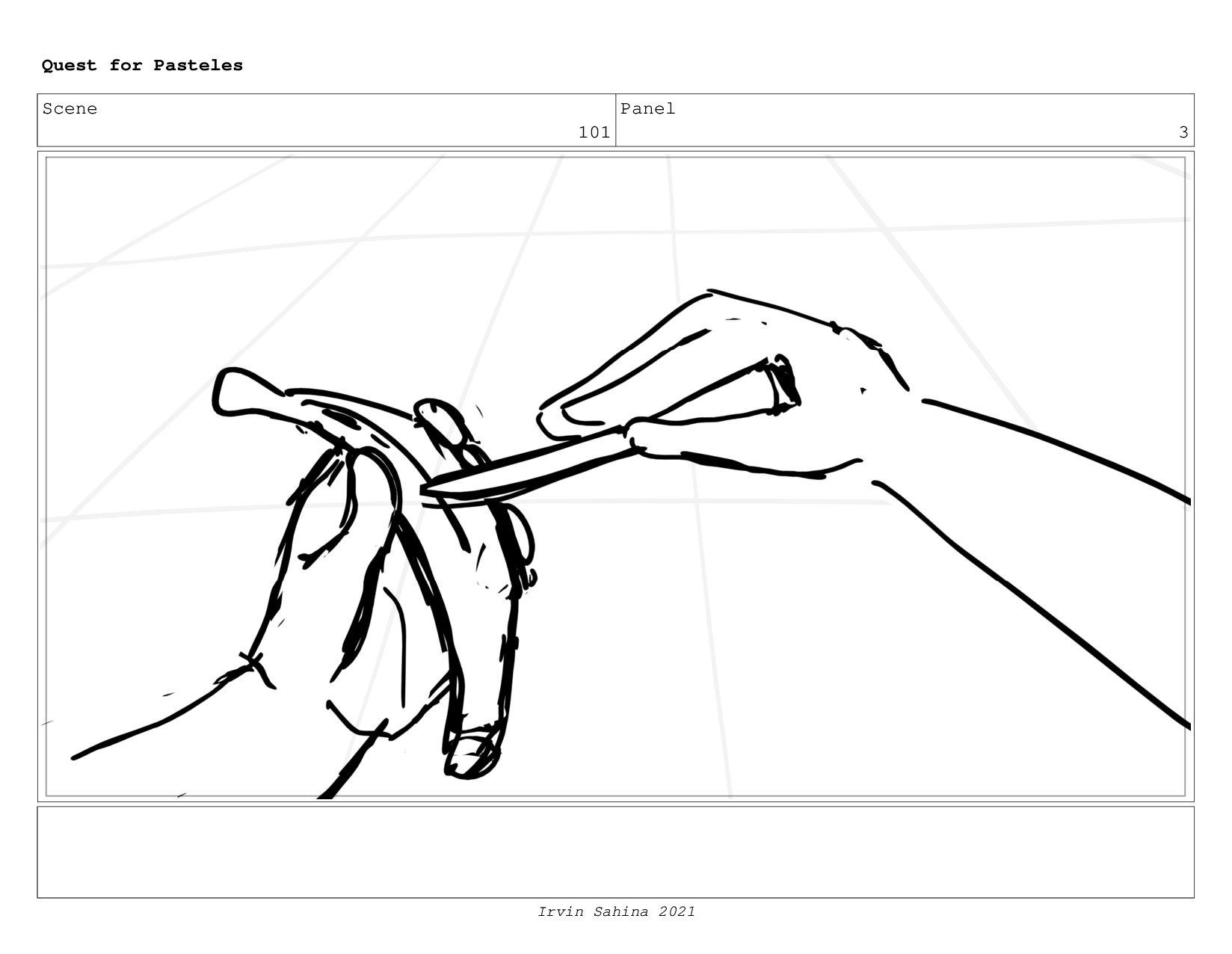 Scene 104 Panel 5 Quest for Pasteles Irvin Sahi...