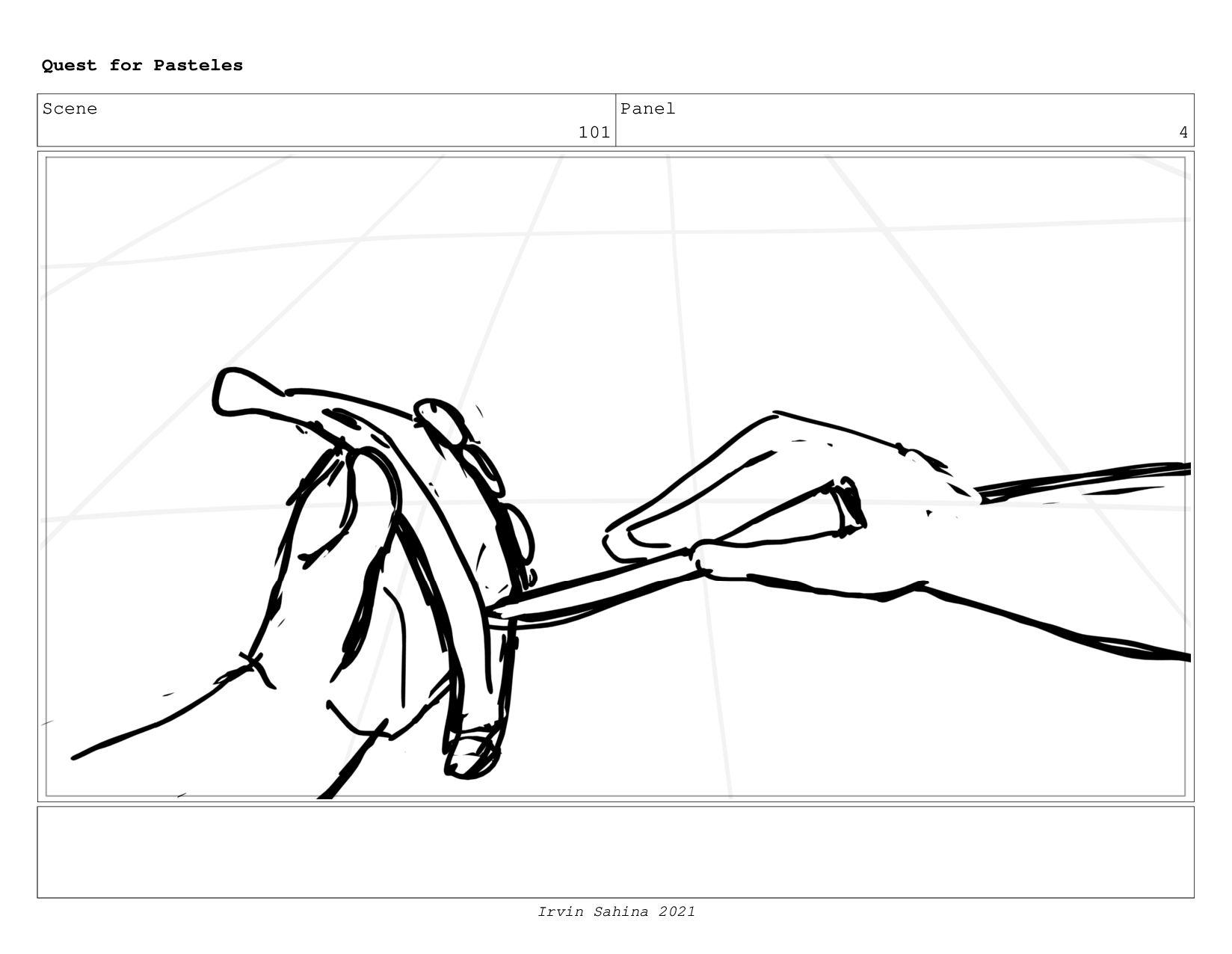 Scene 104 Panel 6 Quest for Pasteles Irvin Sahi...