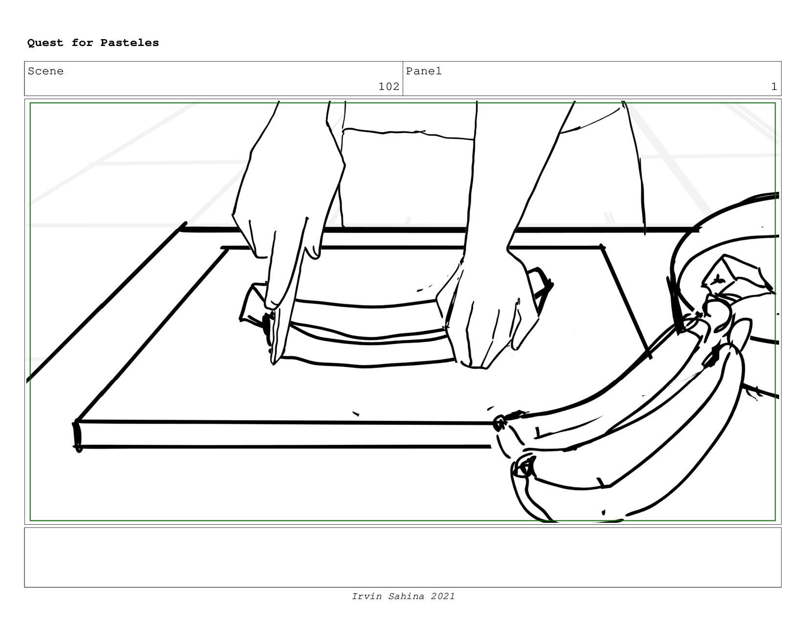 Scene 105 Panel 1 Quest for Pasteles Irvin Sahi...