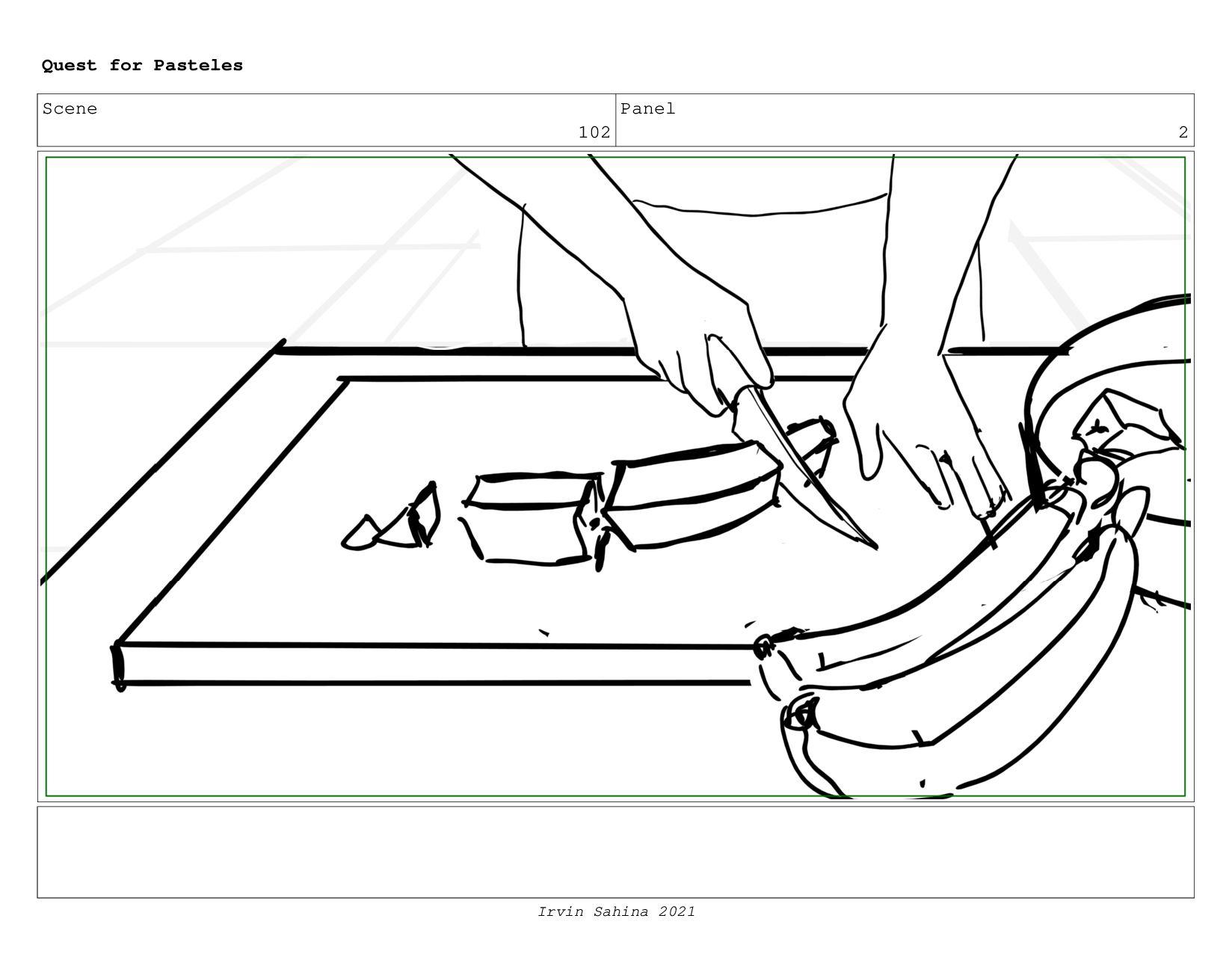Scene 105 Panel 2 Quest for Pasteles Irvin Sahi...