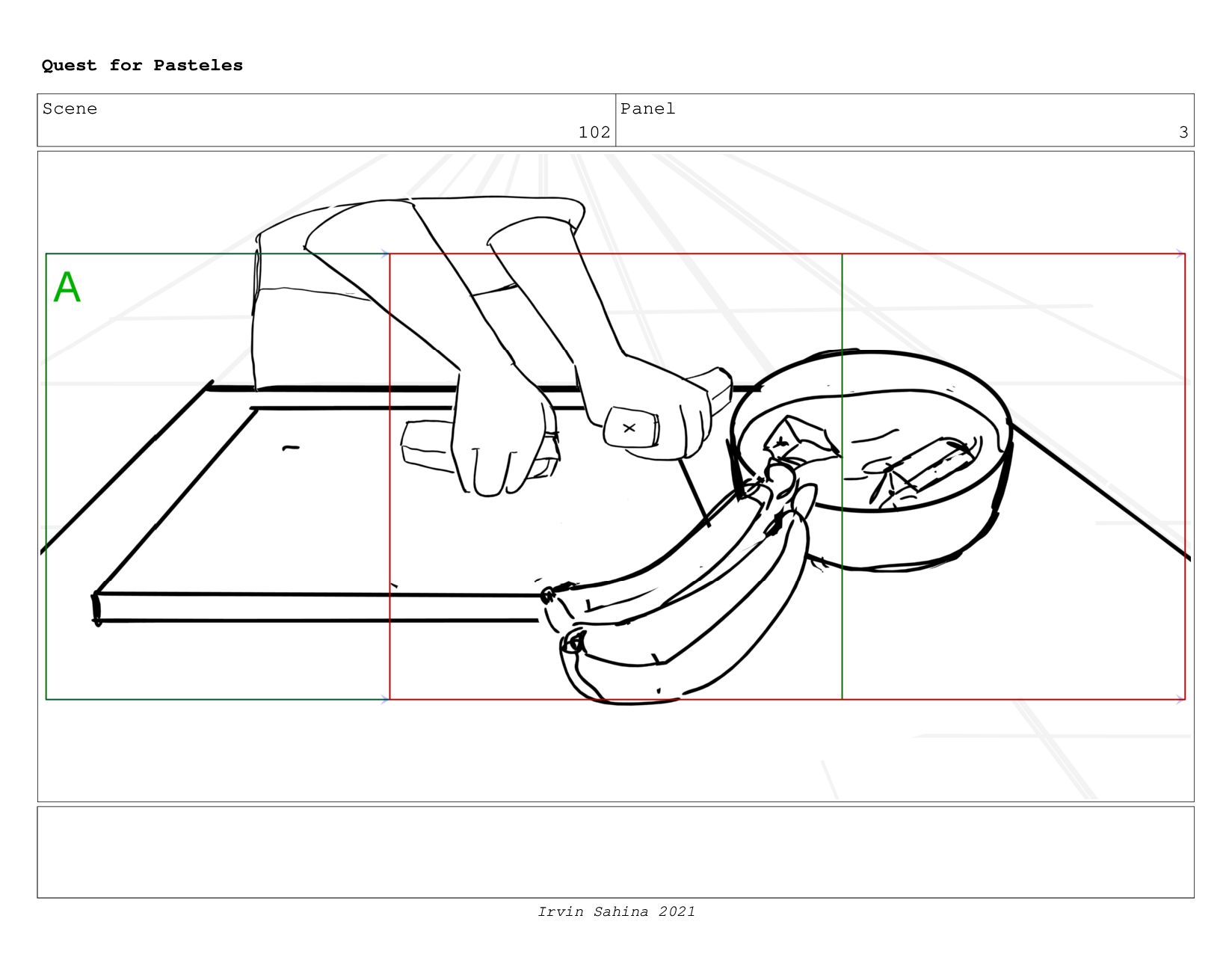 Scene 105 Panel 3 Quest for Pasteles Irvin Sahi...