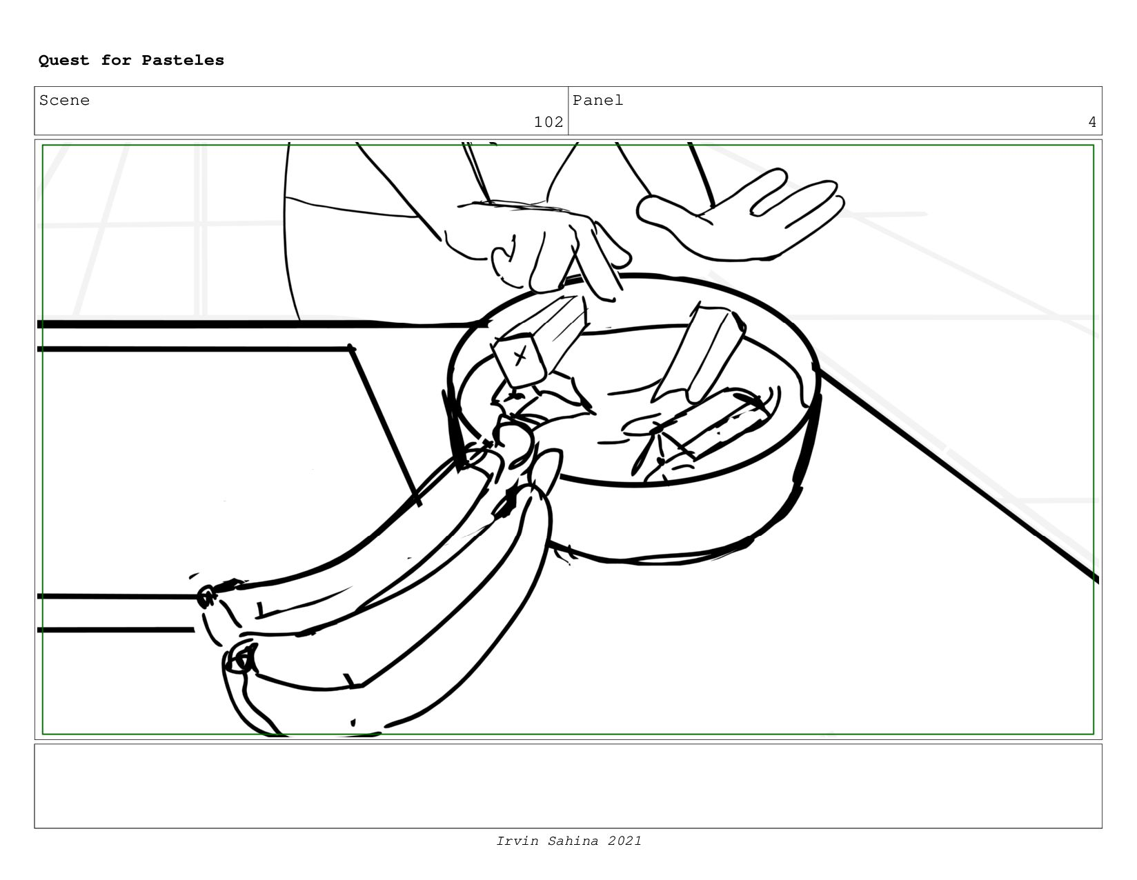 Scene 105 Panel 4 Quest for Pasteles Irvin Sahi...