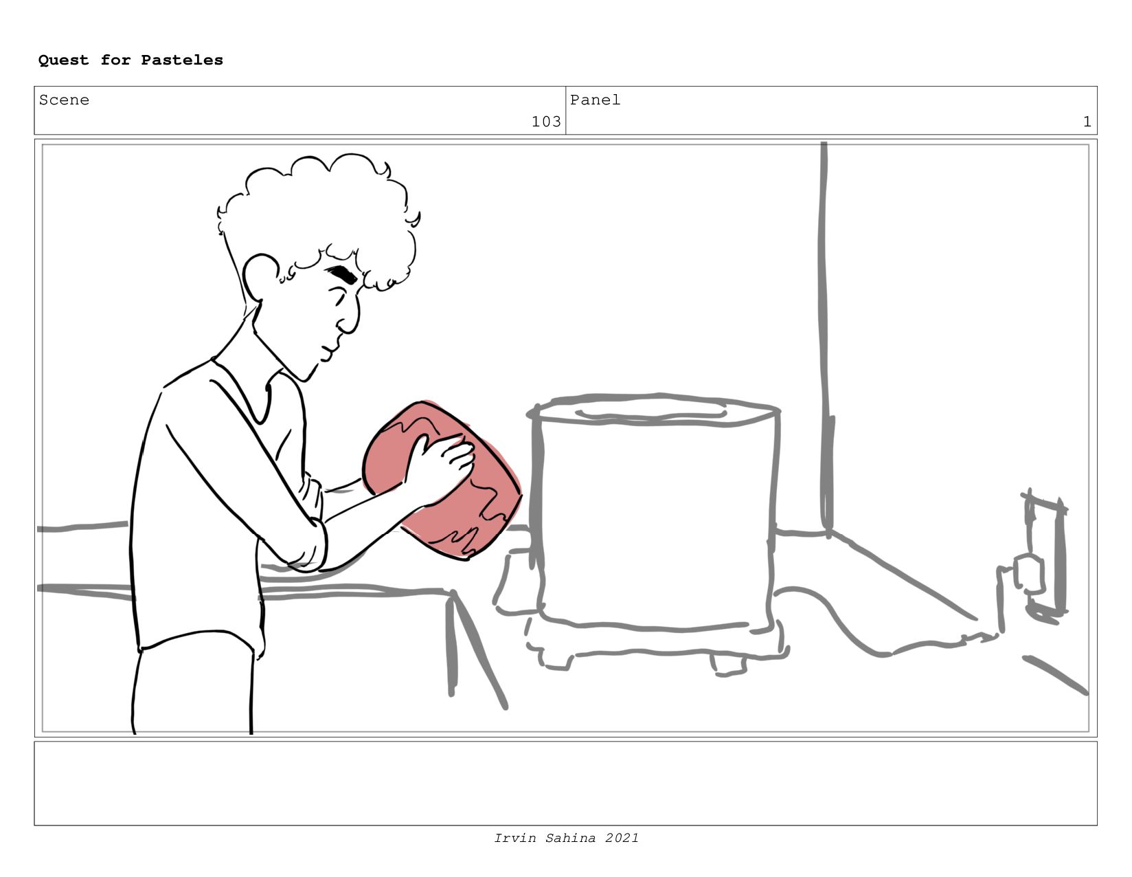 Scene 105 Panel 5 Quest for Pasteles Irvin Sahi...