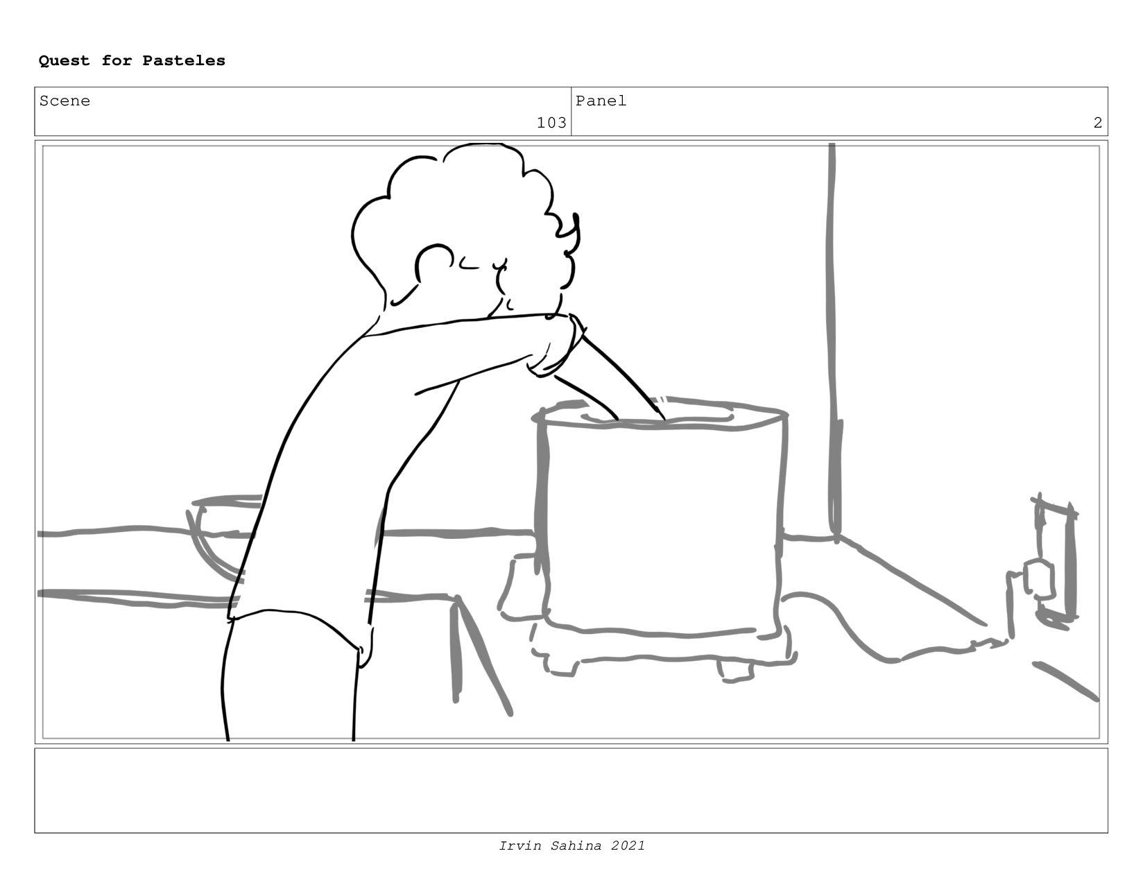 Scene 106 Panel 1 Quest for Pasteles Irvin Sahi...