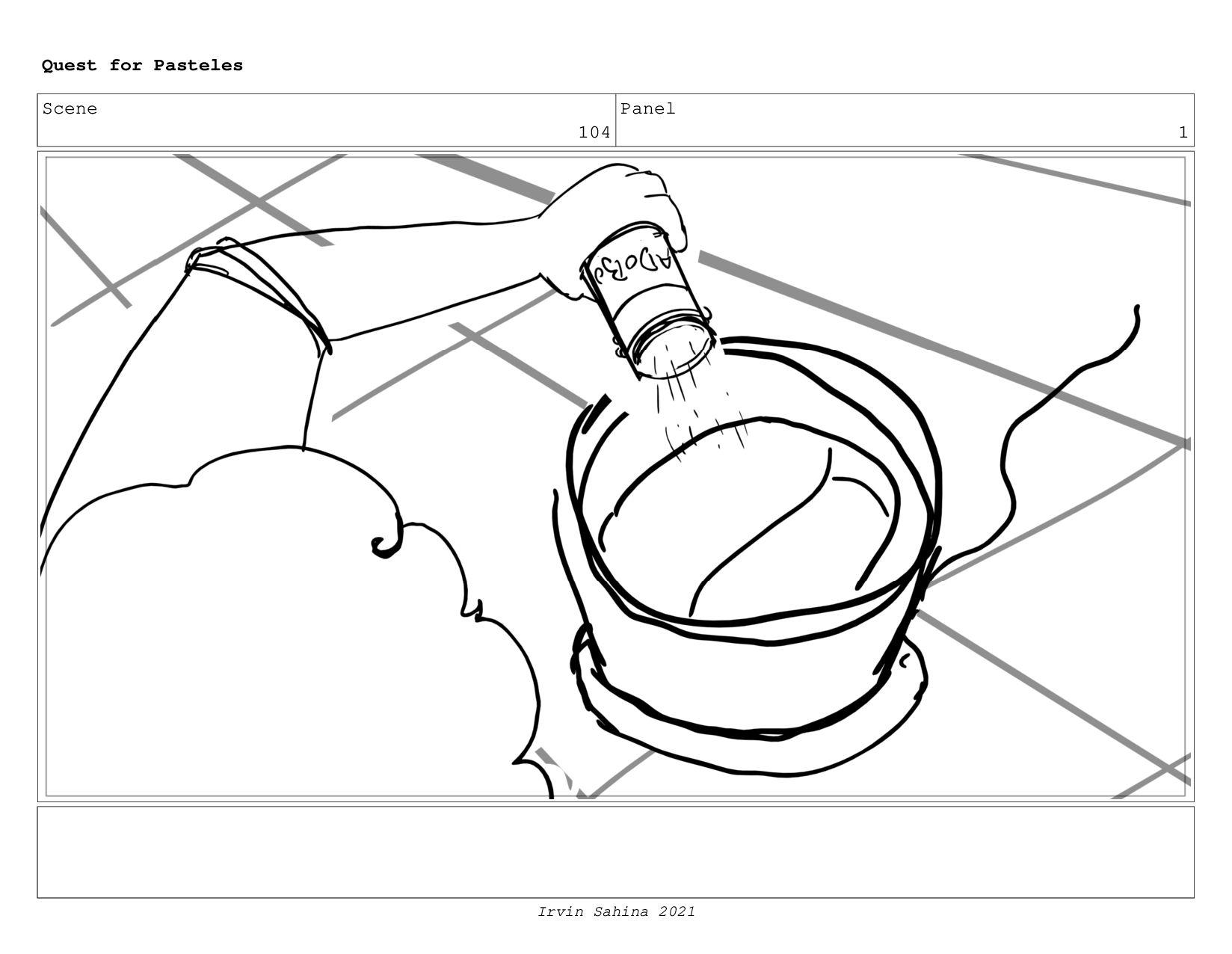 Scene 106 Panel 2 Quest for Pasteles Irvin Sahi...