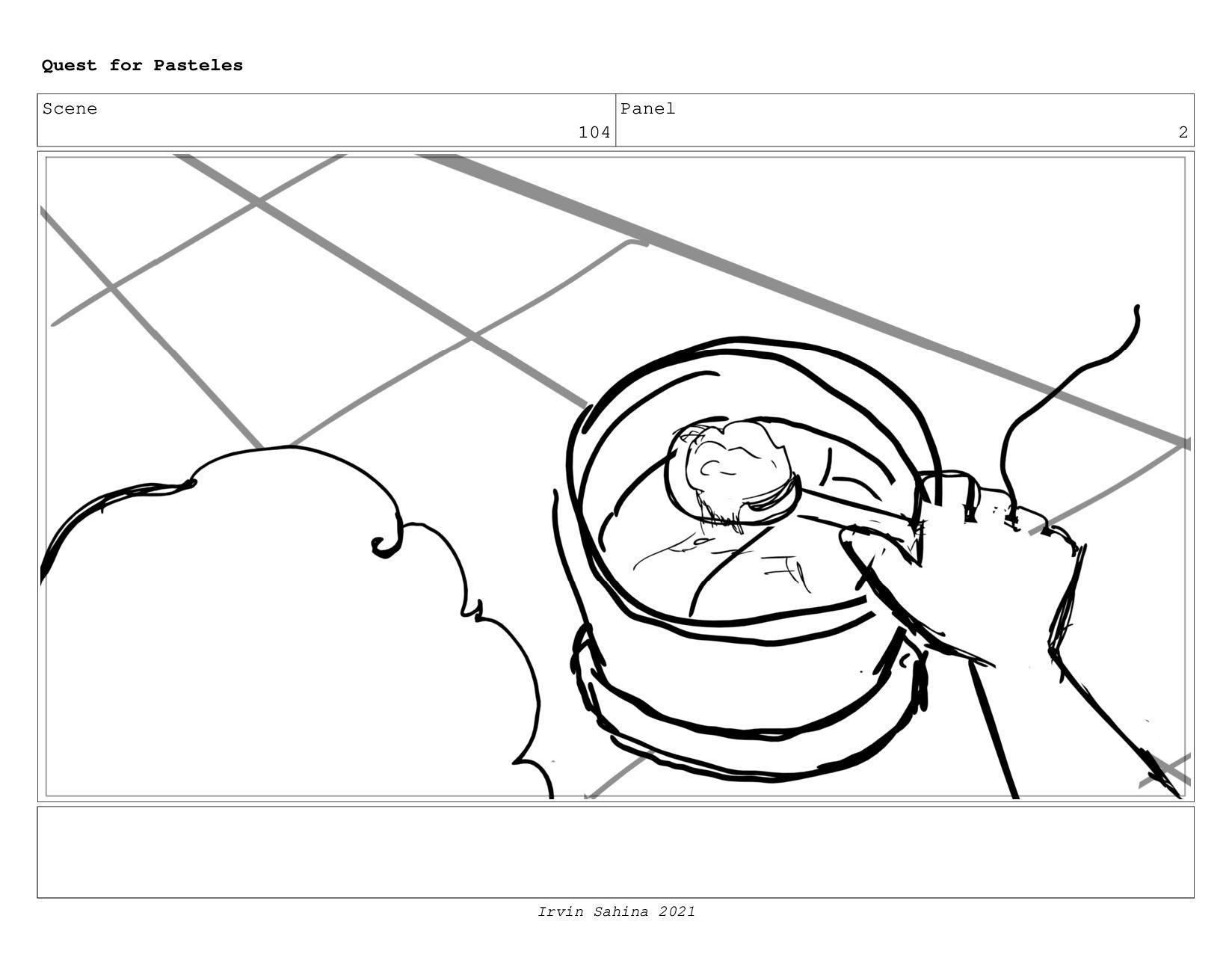 Scene 107 Panel 1 Quest for Pasteles Irvin Sahi...