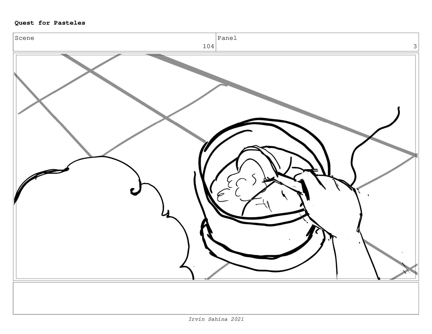 Scene 107 Panel 2 Quest for Pasteles Irvin Sahi...