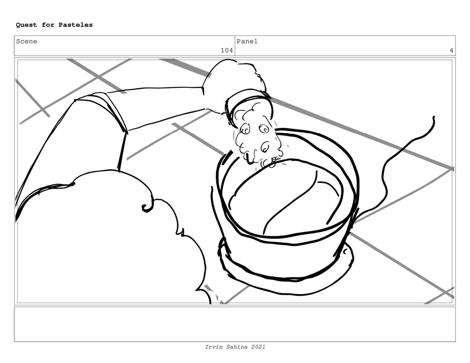 Scene 107 Panel 3 Quest for Pasteles Irvin Sahi...