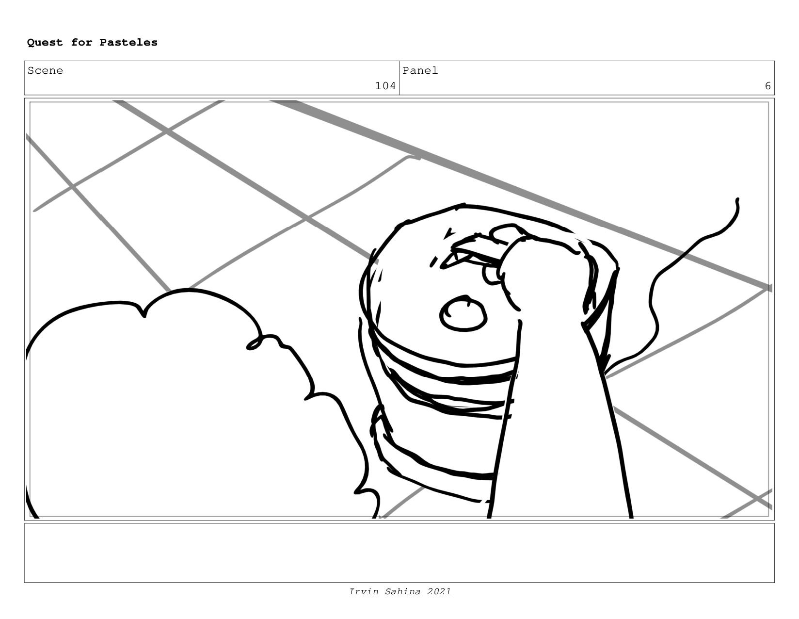 Scene 107 Panel 5 Quest for Pasteles Irvin Sahi...