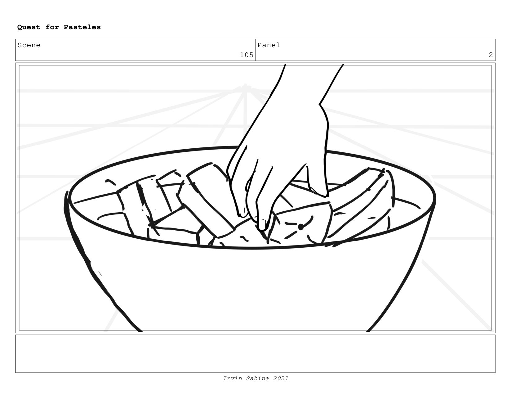 Scene 107 Panel 7 Quest for Pasteles Irvin Sahi...