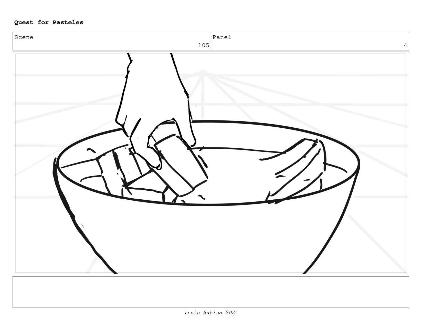 Scene 108 Panel 1 Quest for Pasteles Irvin Sahi...