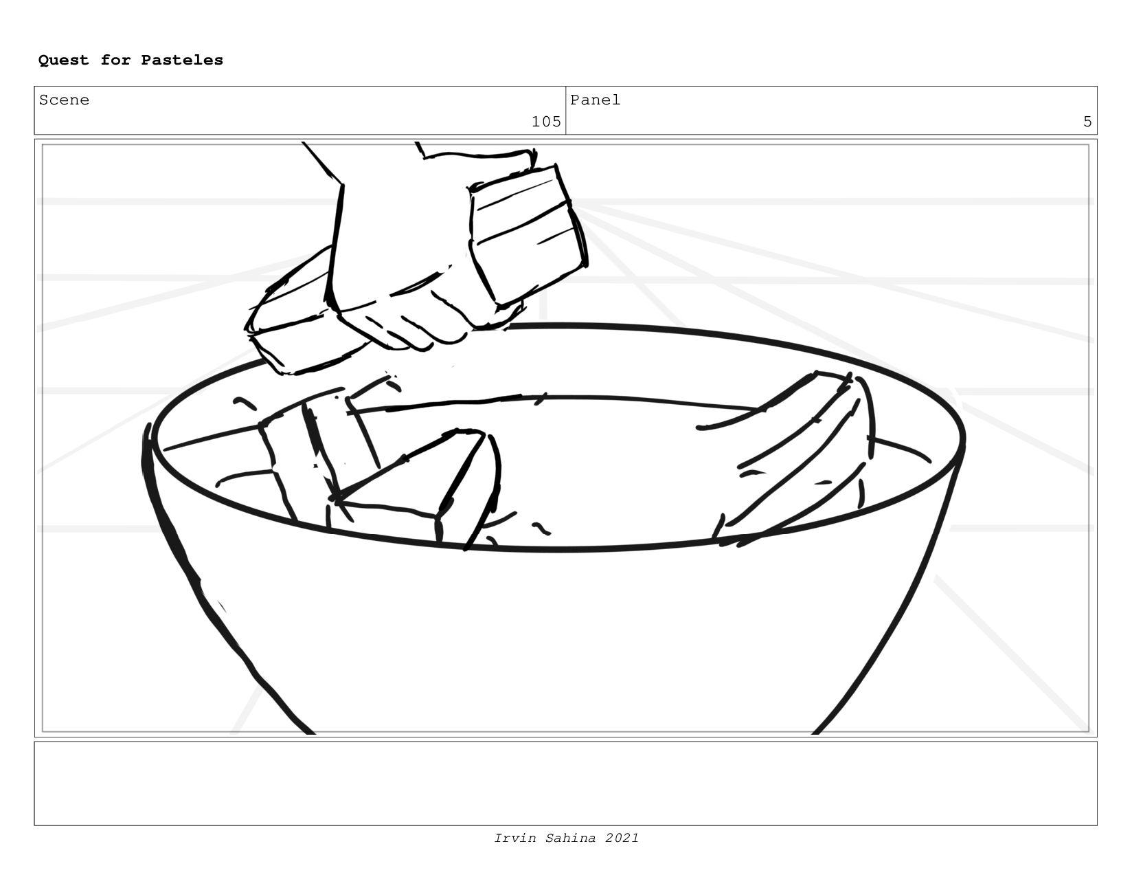 Scene 108 Panel 2 Quest for Pasteles Irvin Sahi...