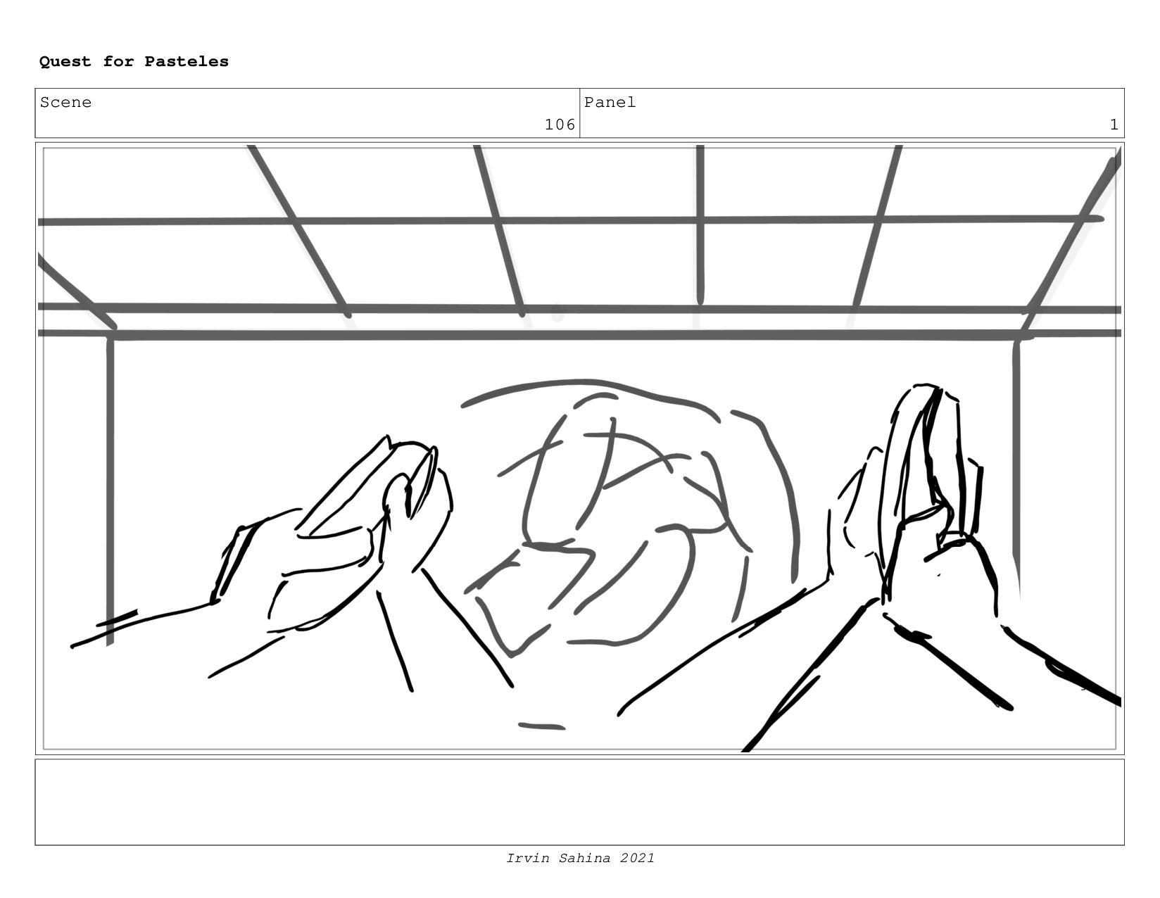 Scene 108 Panel 3 Quest for Pasteles Irvin Sahi...