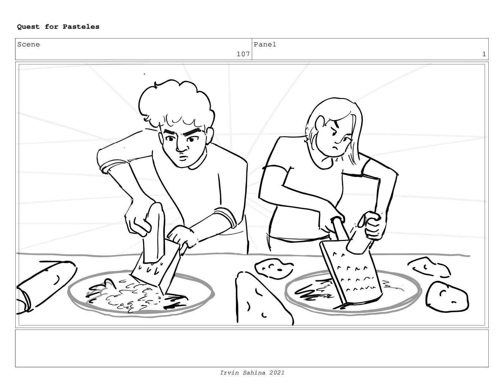 Scene 109 Panel 2 Quest for Pasteles Irvin Sahi...