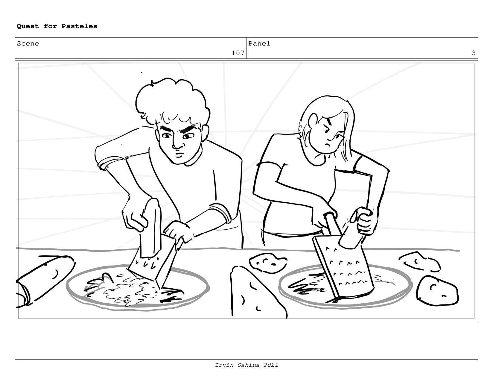 Scene 110 Panel 1 Quest for Pasteles Irvin Sahi...