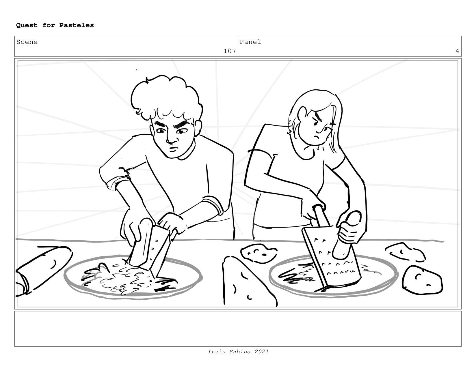 Scene 110 Panel 2 Quest for Pasteles Irvin Sahi...