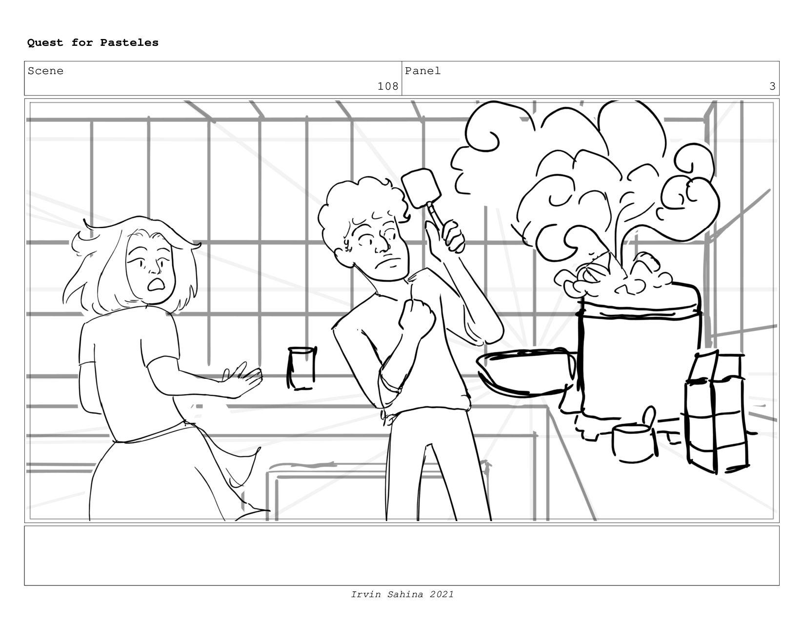 Scene 111 Panel 1 Quest for Pasteles Irvin Sahi...