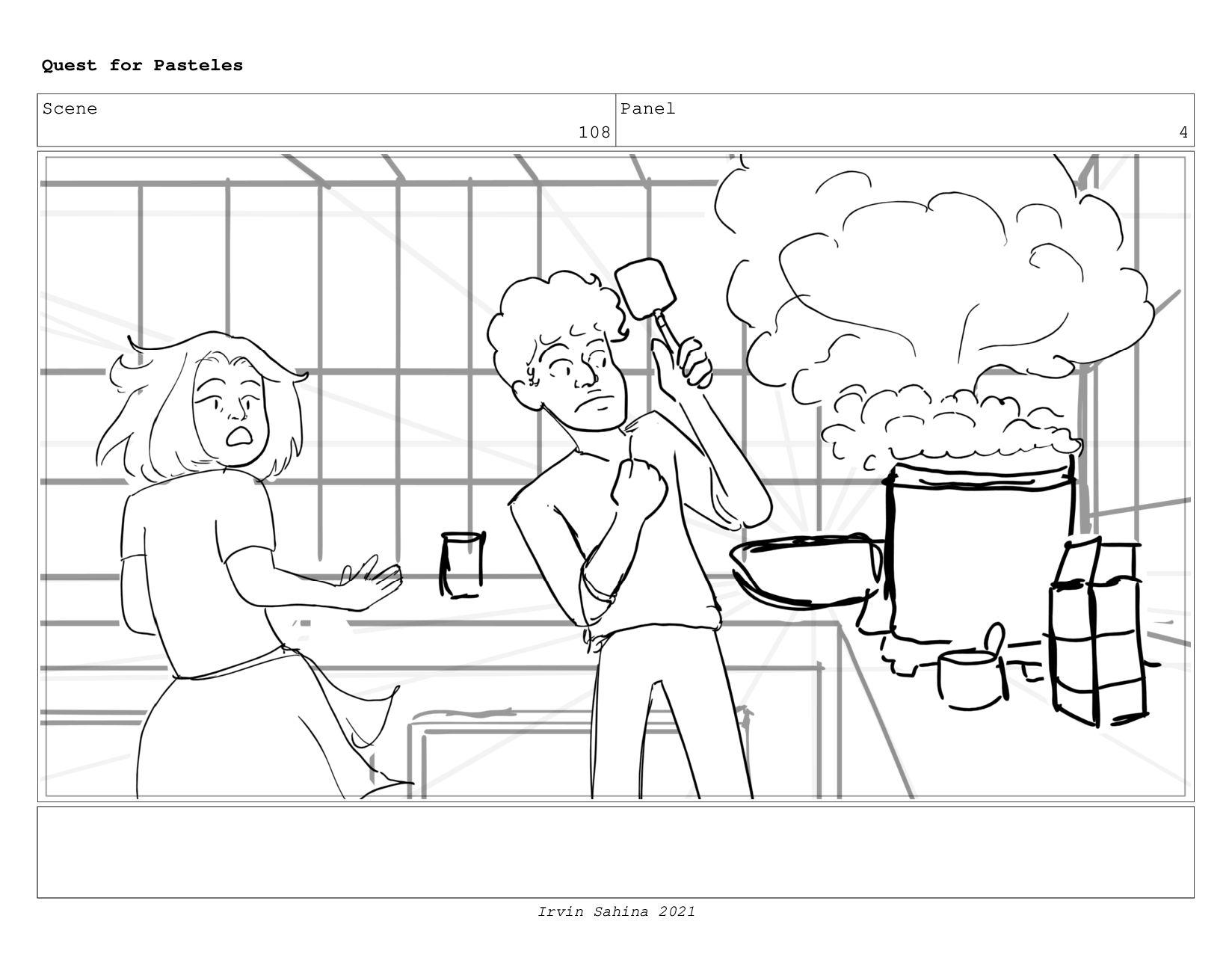 Scene 111 Panel 2 Quest for Pasteles Irvin Sahi...