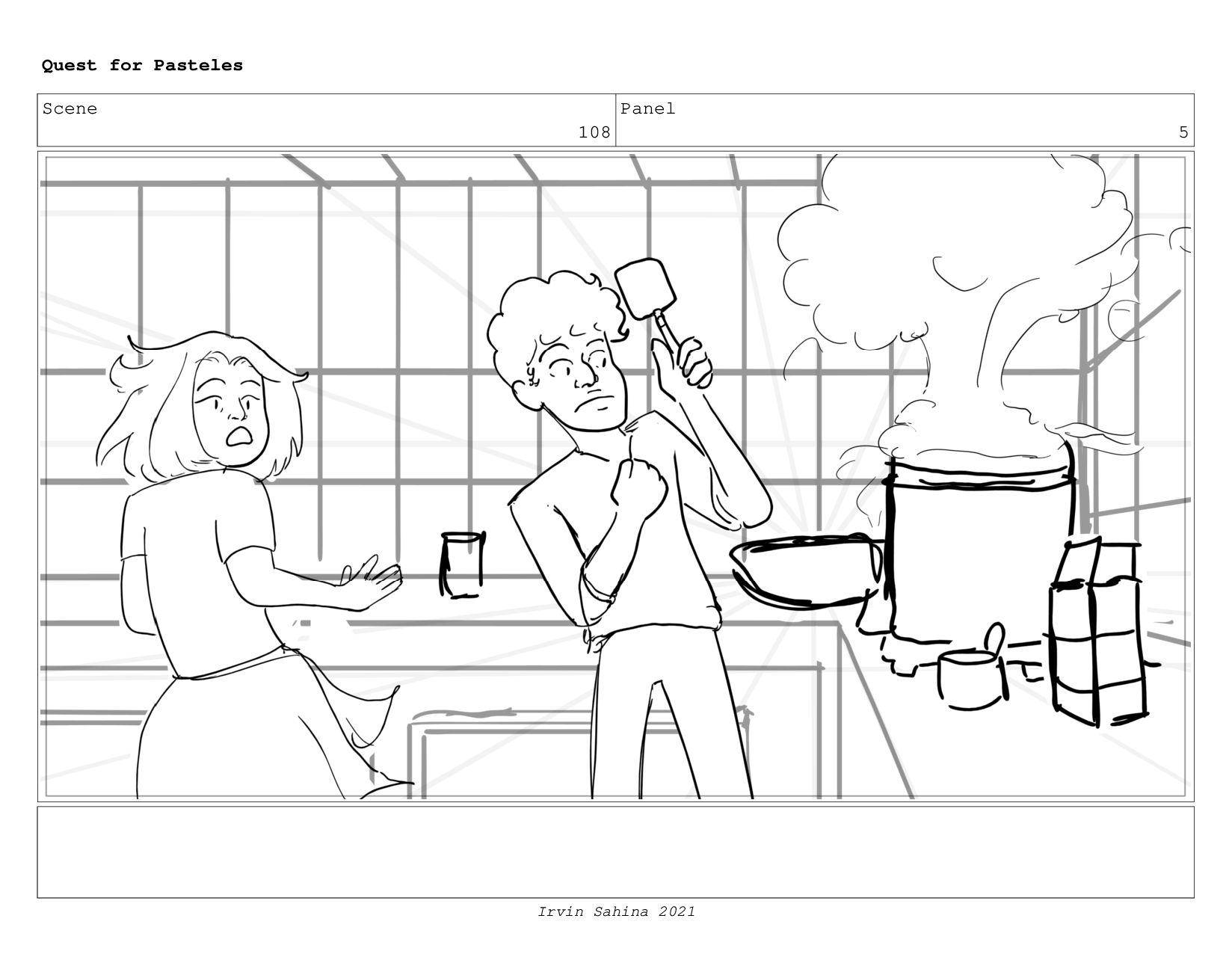 Scene 111 Panel 3 Quest for Pasteles Irvin Sahi...