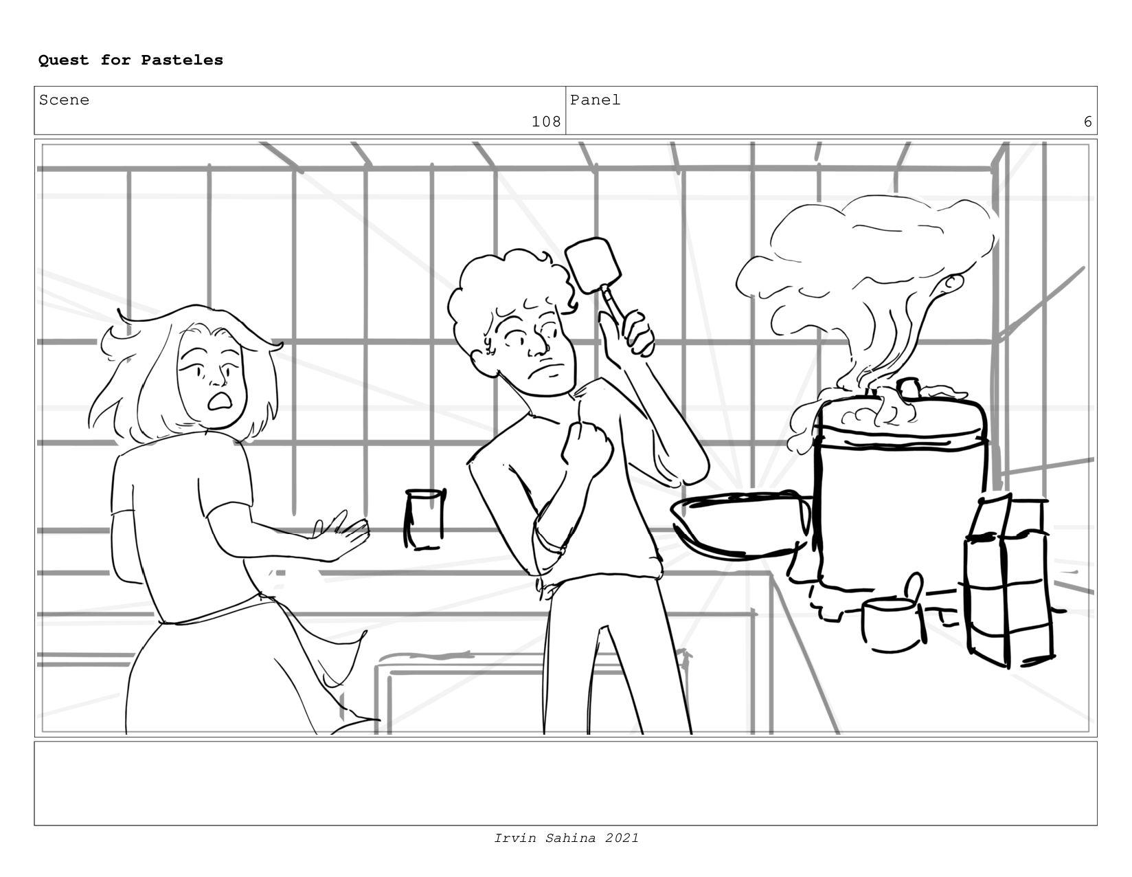 Scene 112 Panel 1 Quest for Pasteles Irvin Sahi...