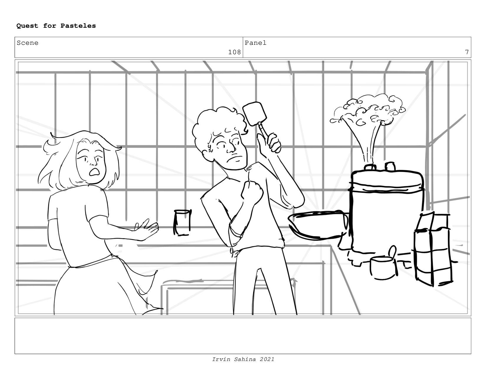 Scene 112 Panel 2 Quest for Pasteles Irvin Sahi...
