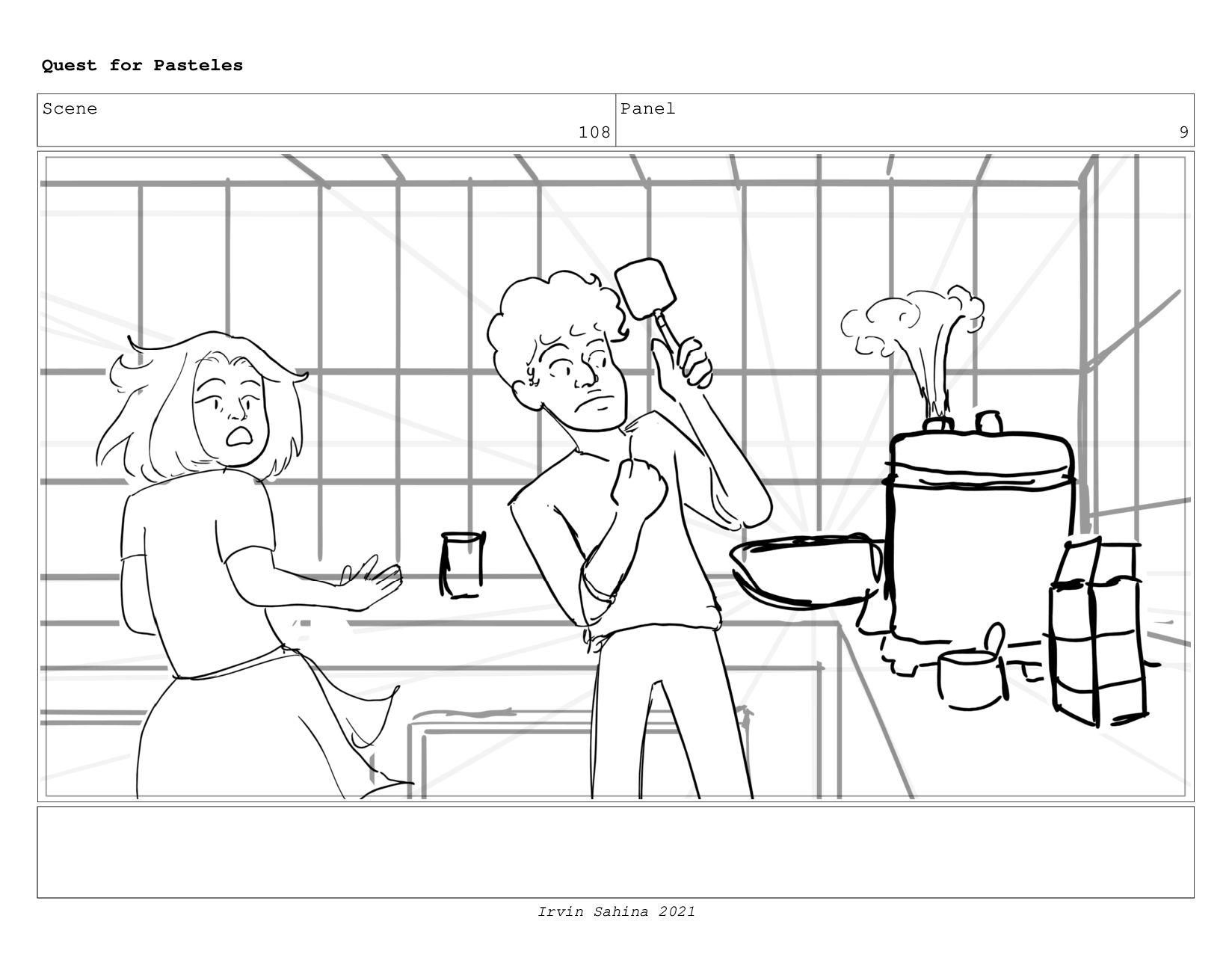 Scene 112 Panel 4 Quest for Pasteles Irvin Sahi...