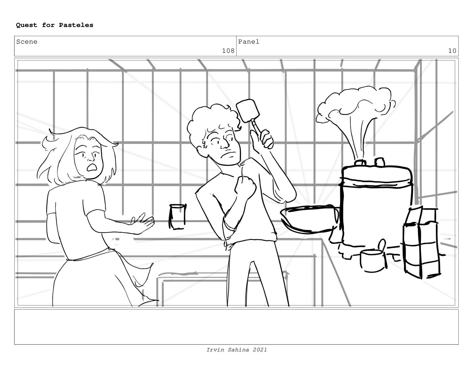 Scene 112 Panel 5 Quest for Pasteles Irvin Sahi...