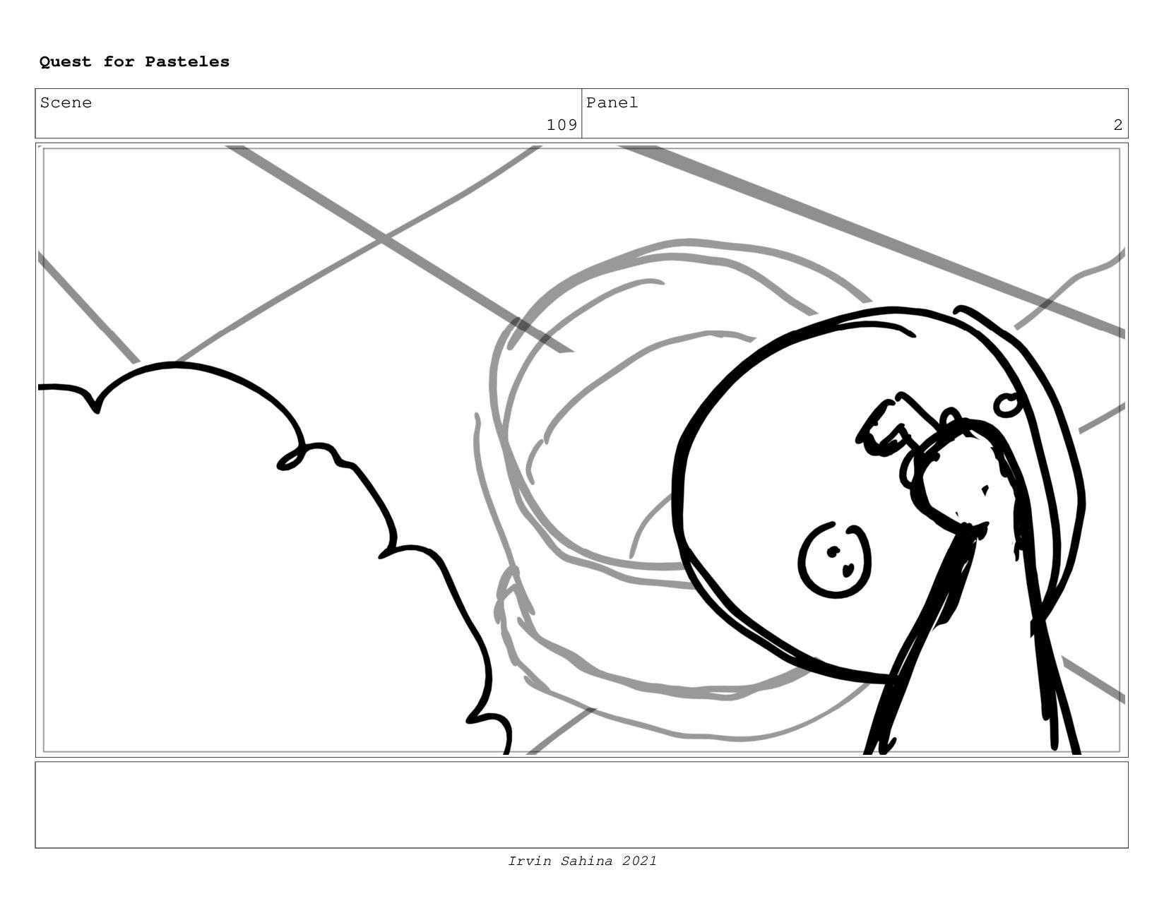 Scene 113 Panel 2 Quest for Pasteles Irvin Sahi...