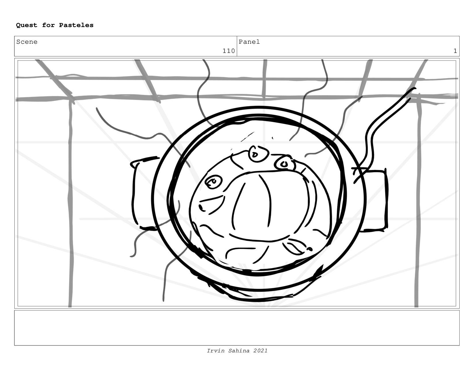 Scene 113 Panel 4 Quest for Pasteles Irvin Sahi...