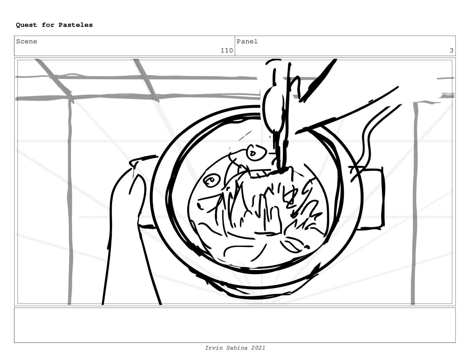 Scene 113 Panel 6 Quest for Pasteles Irvin Sahi...