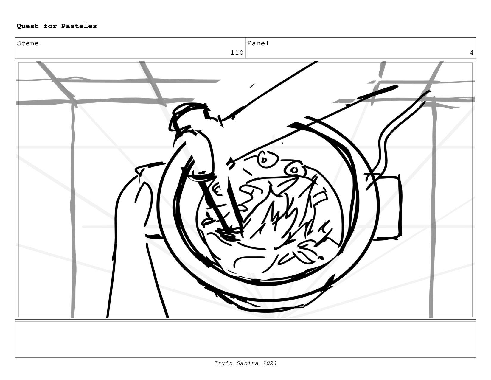Scene 113 Panel 7 Quest for Pasteles Irvin Sahi...