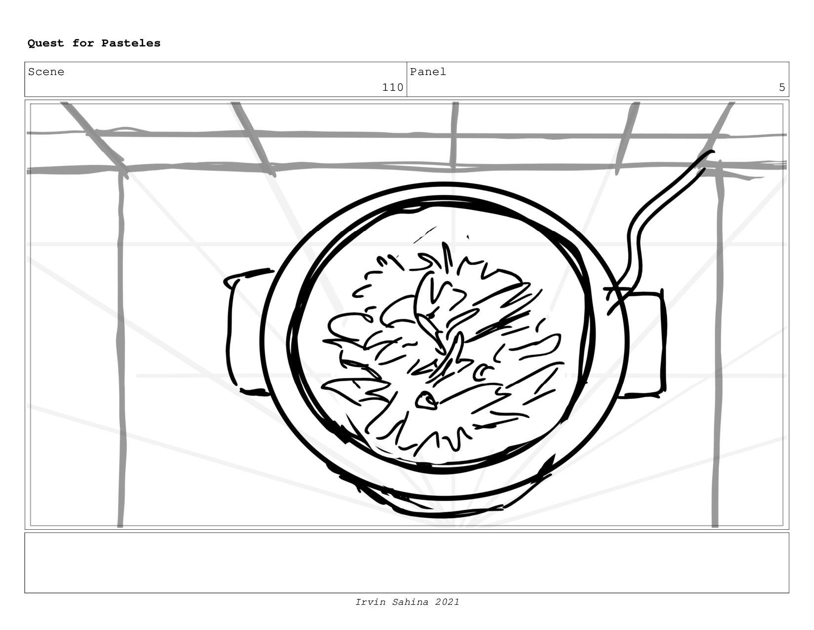 Scene 113 Panel 8 Quest for Pasteles Irvin Sahi...