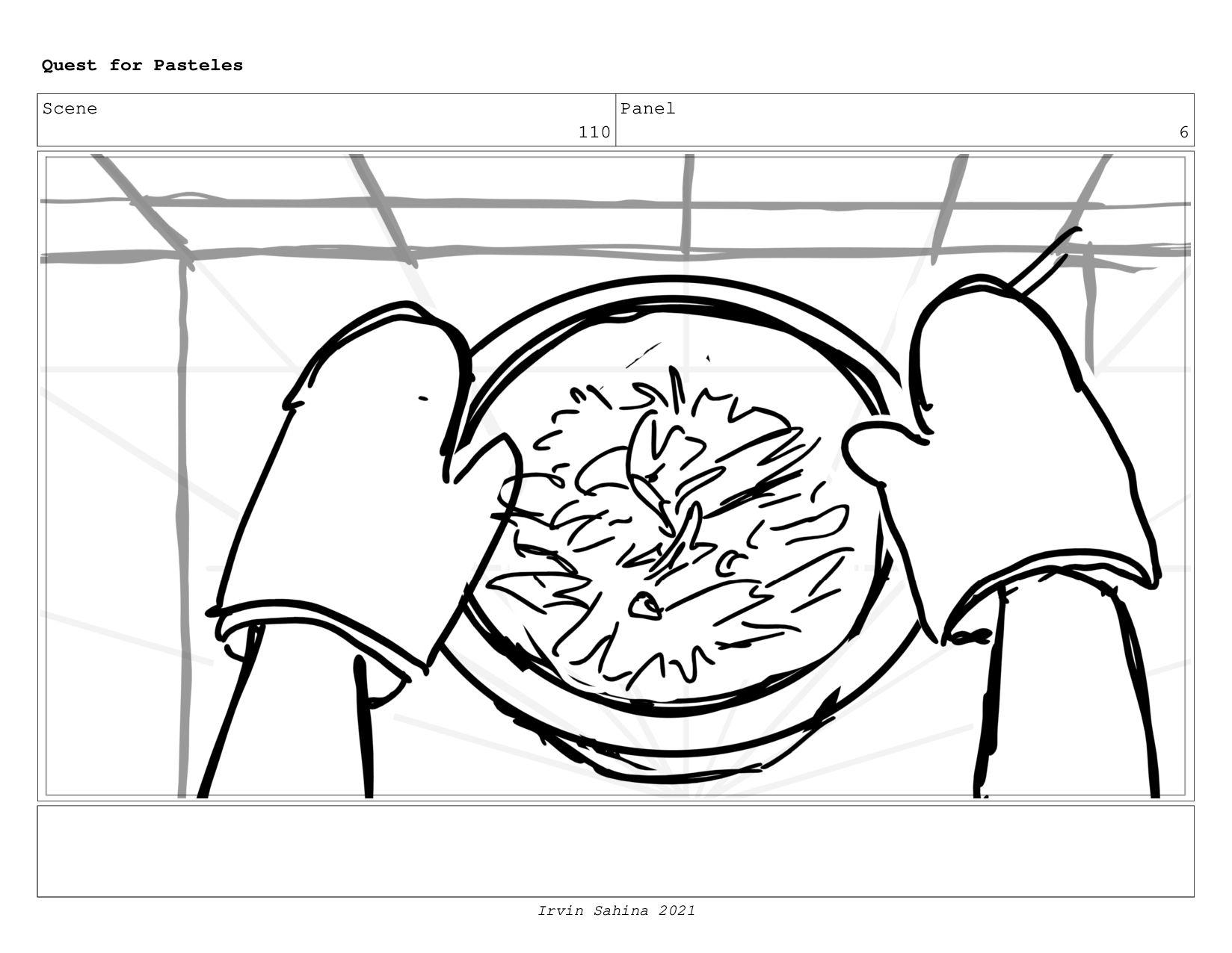 Scene 113 Panel 9 Quest for Pasteles Irvin Sahi...