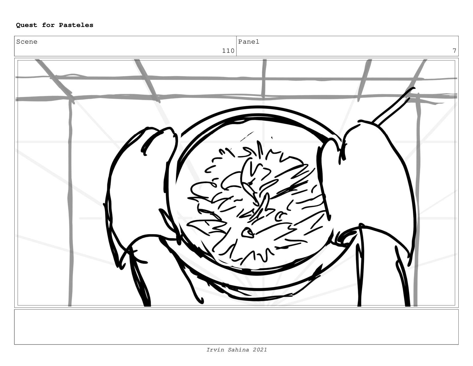Scene 114 Panel 1 Quest for Pasteles Irvin Sahi...