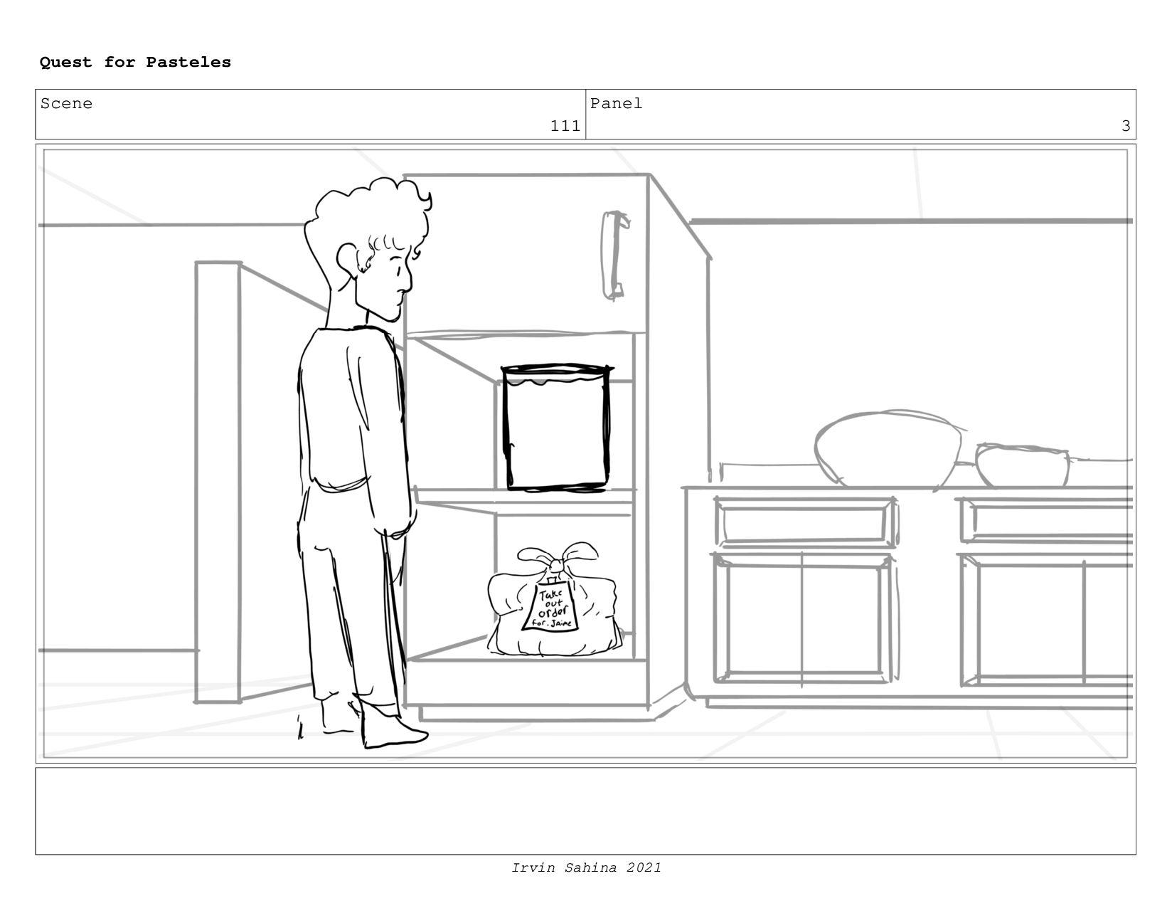 Scene 114 Panel 5 Quest for Pasteles Irvin Sahi...