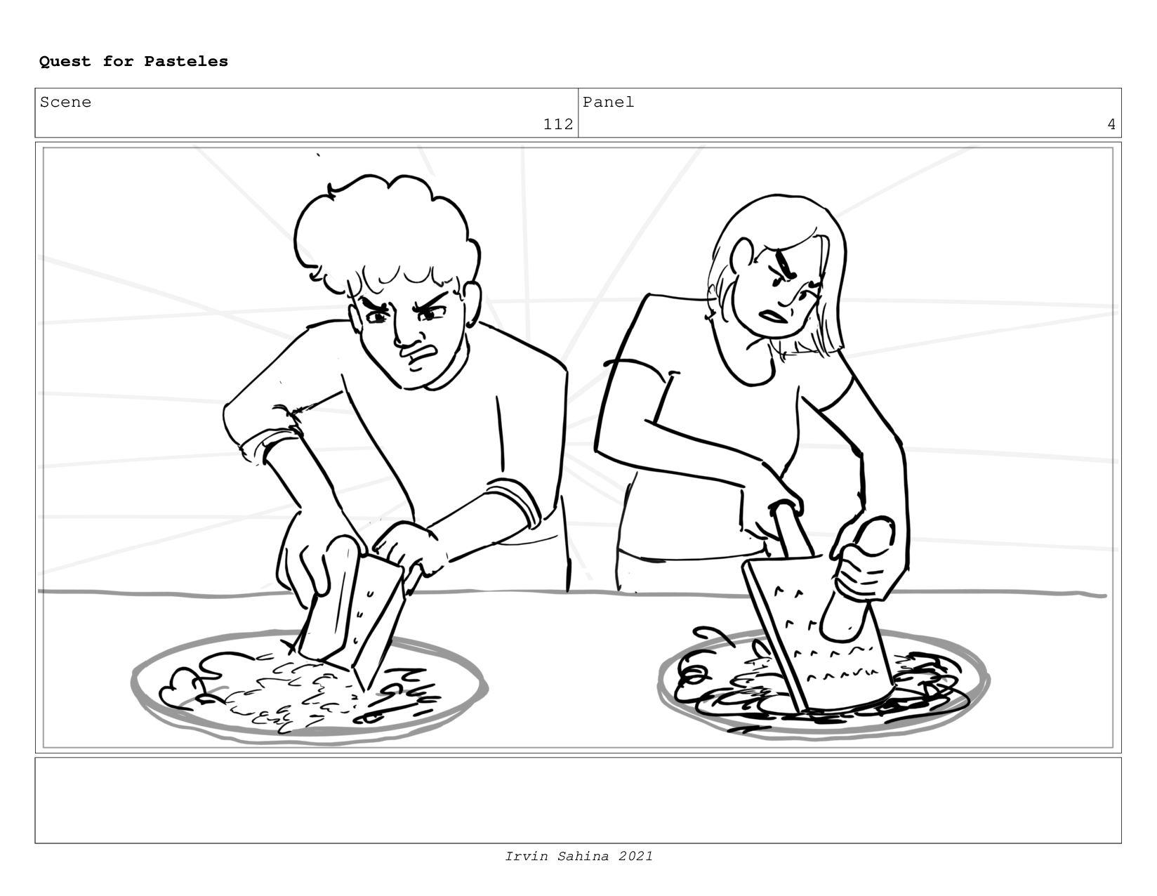 Scene 115 Panel 2 Quest for Pasteles Irvin Sahi...