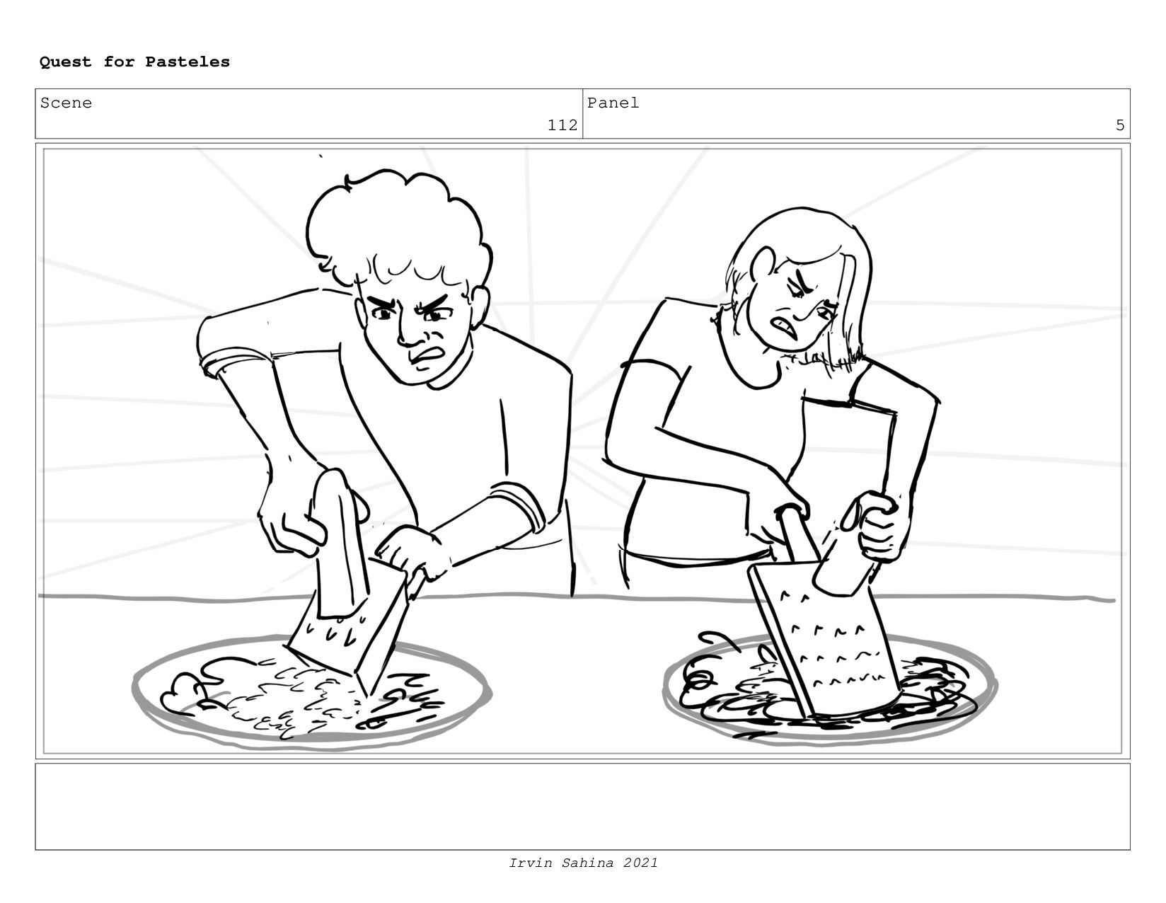 Scene 115 Panel 3 Quest for Pasteles Irvin Sahi...