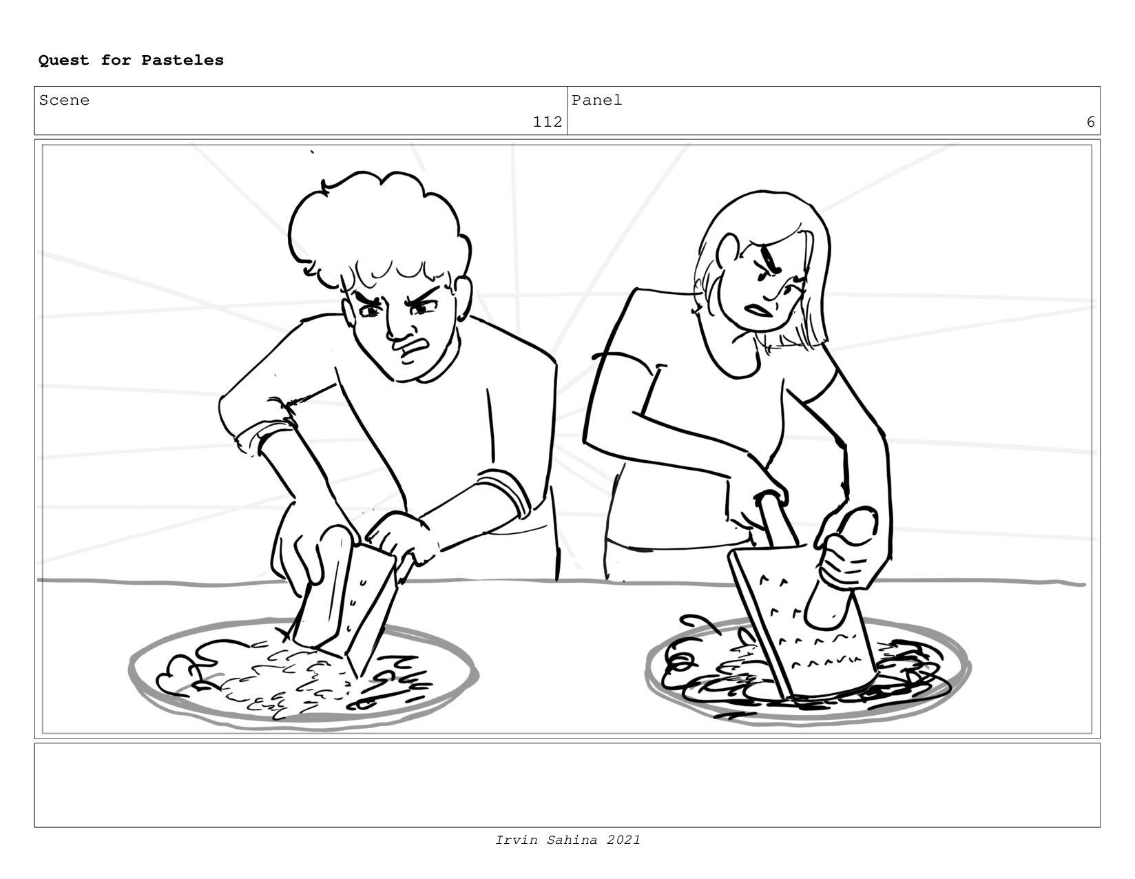 Scene 115 Panel 4 Quest for Pasteles Irvin Sahi...