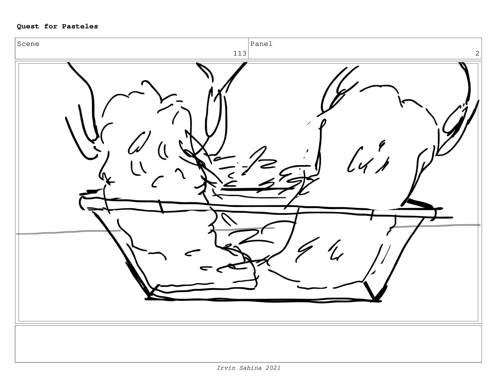 Scene 117 Panel 1 Quest for Pasteles Irvin Sahi...