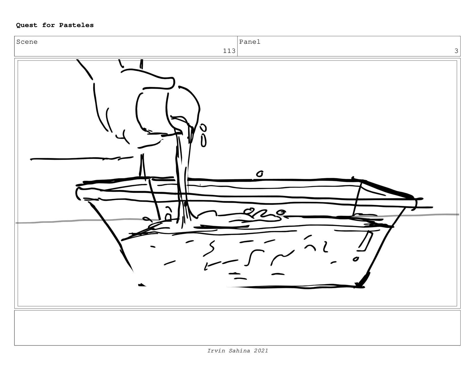 Scene 118 Panel 1 Quest for Pasteles Irvin Sahi...