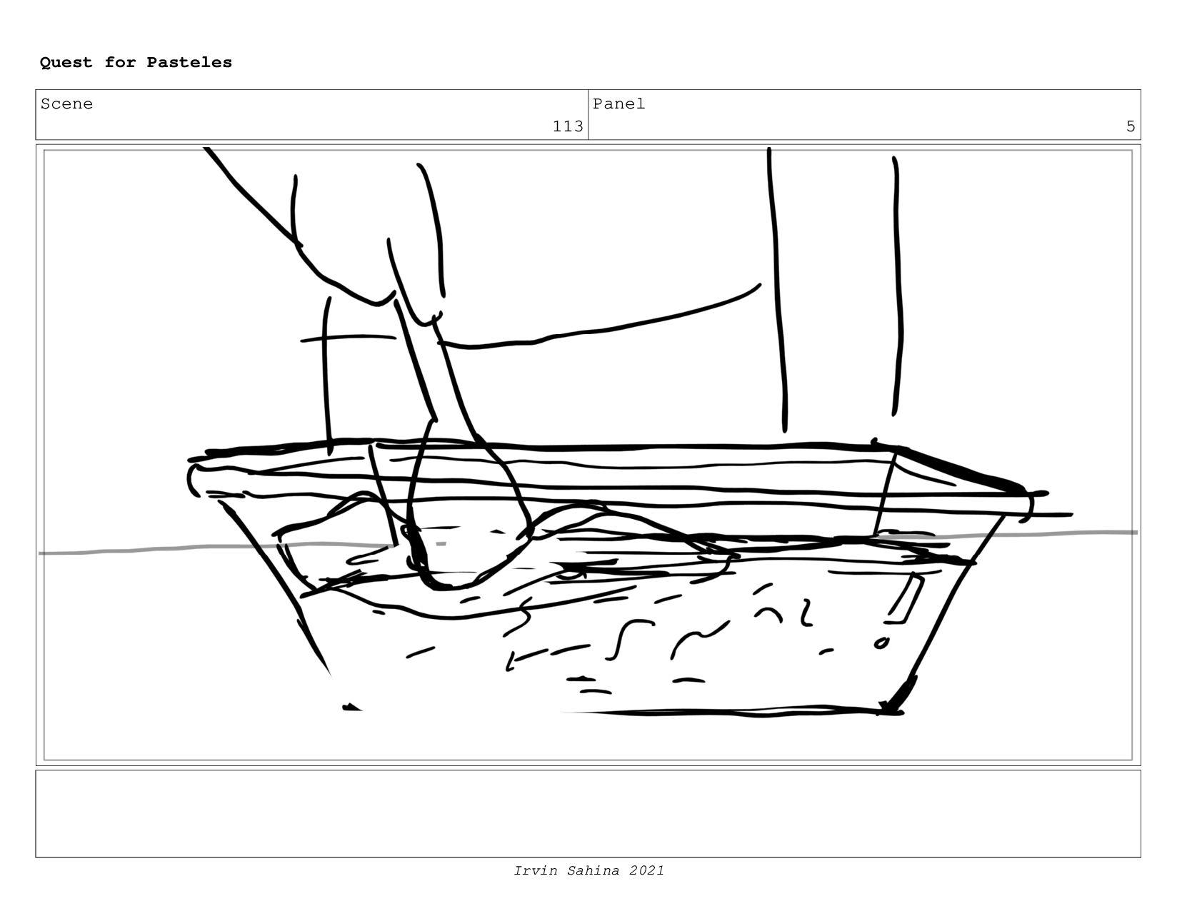 Scene 118 Panel 3 Quest for Pasteles Irvin Sahi...